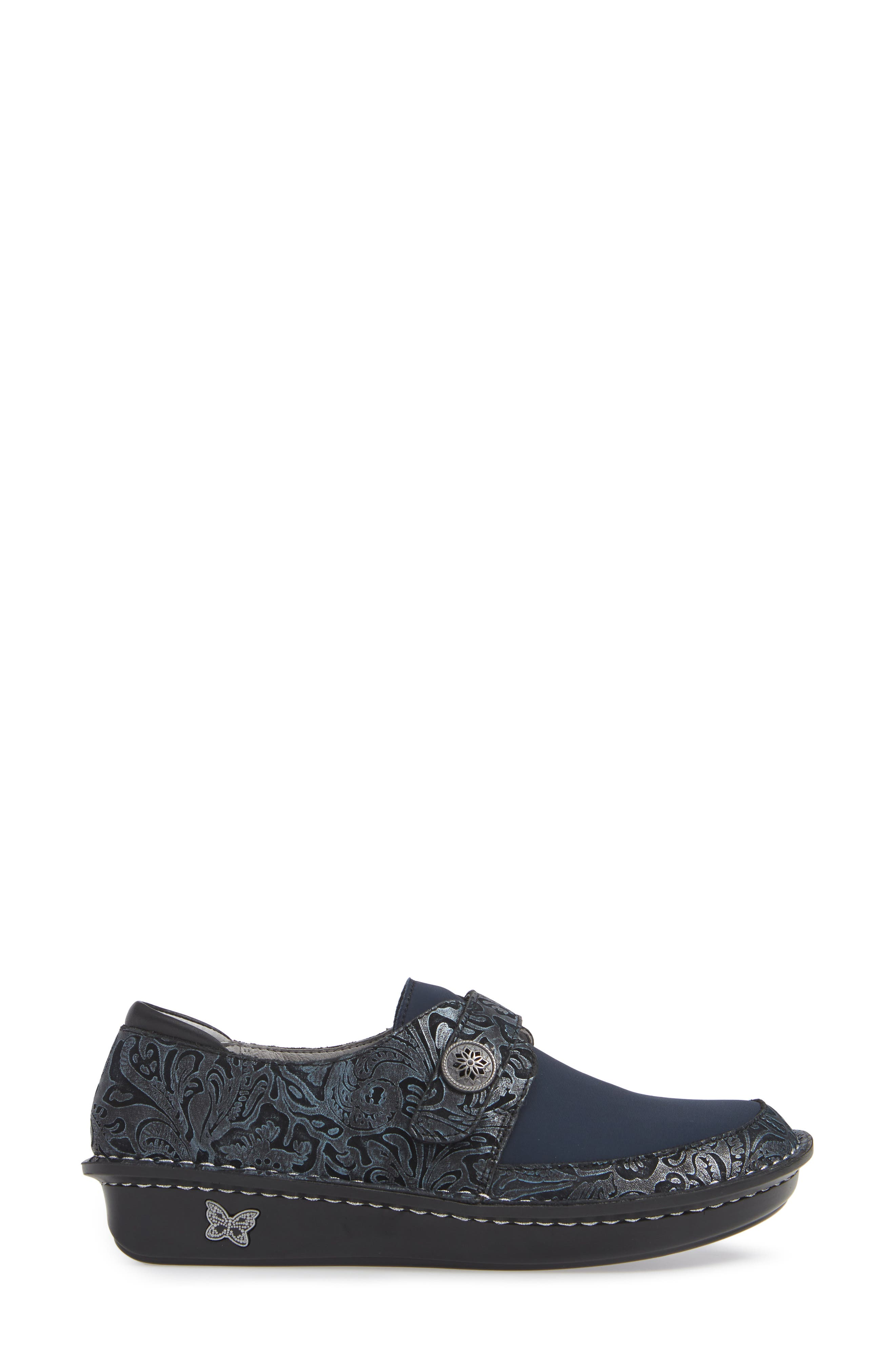 ALEGRIA, Brenna Slip-On, Alternate thumbnail 3, color, NAVY SWISH LEATHER