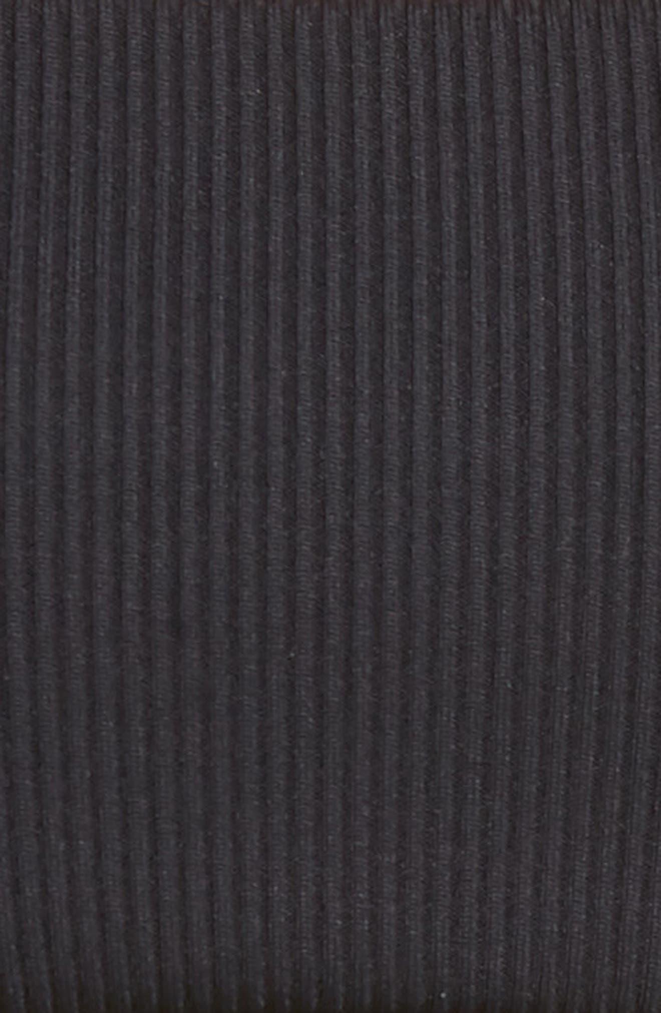 L SPACE, Ridin' High Rebel Textured Bikini Top, Alternate thumbnail 6, color, BLACK