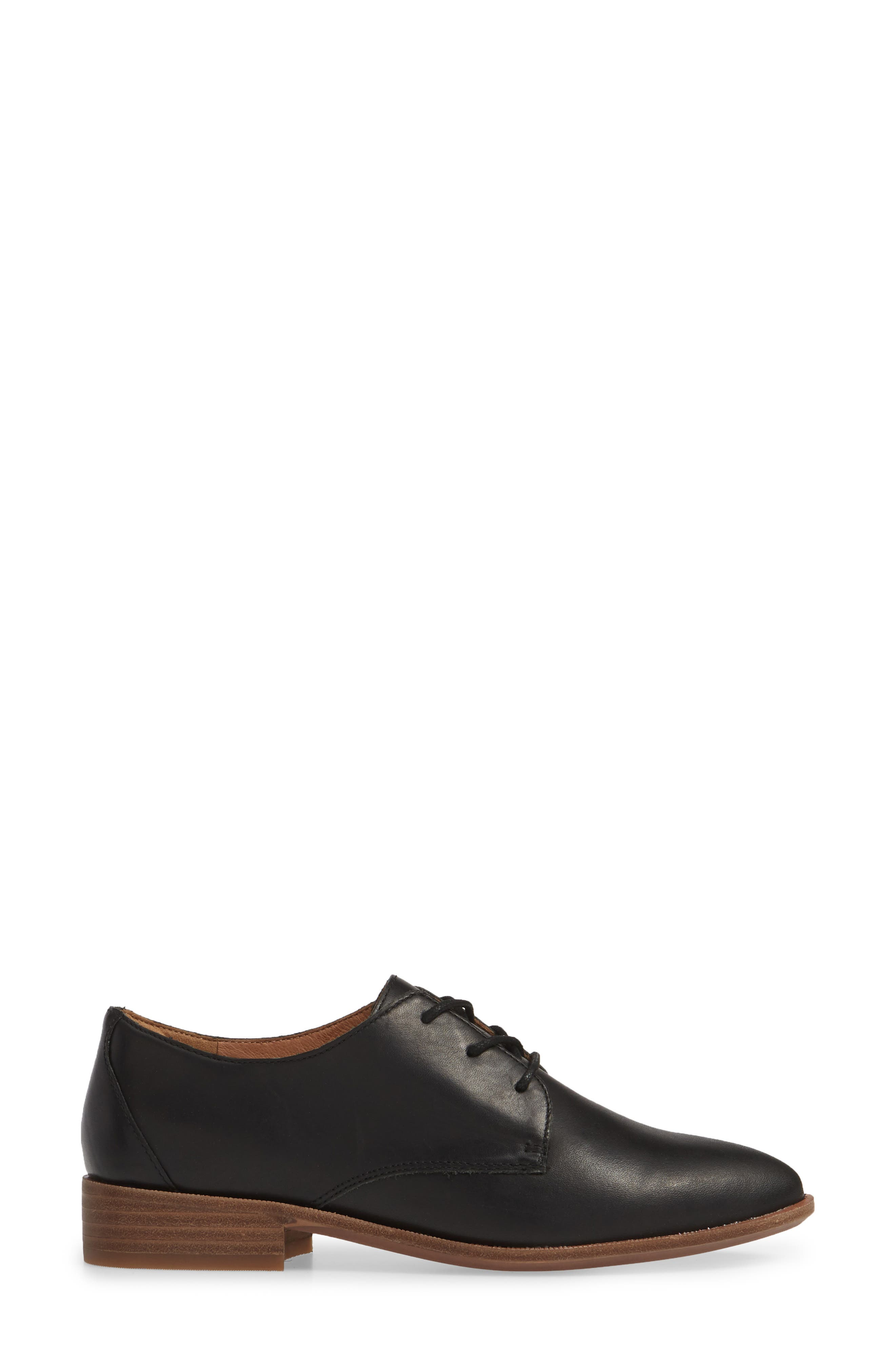 MADEWELL, The Frances Derby, Alternate thumbnail 3, color, TRUE BLACK