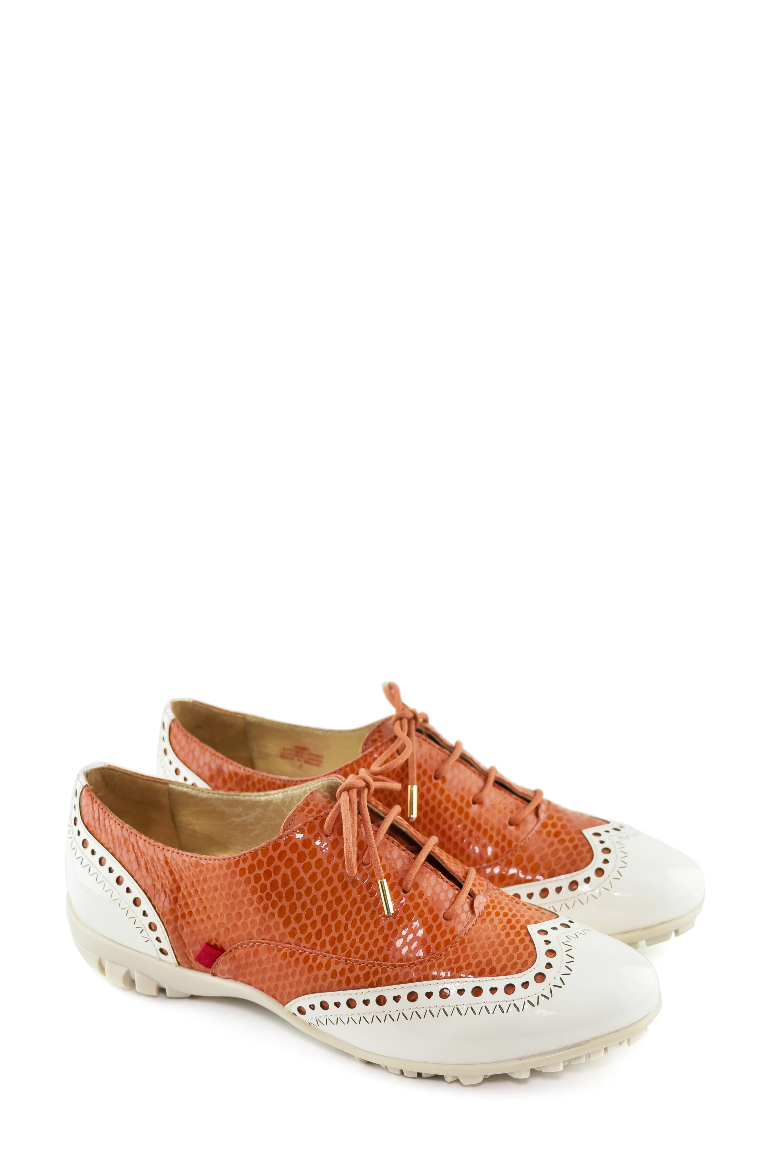 MARC JOSEPH NEW YORK, NYC Golf Loafer, Alternate thumbnail 8, color, CORAL SNAKE PRINT LEATHER