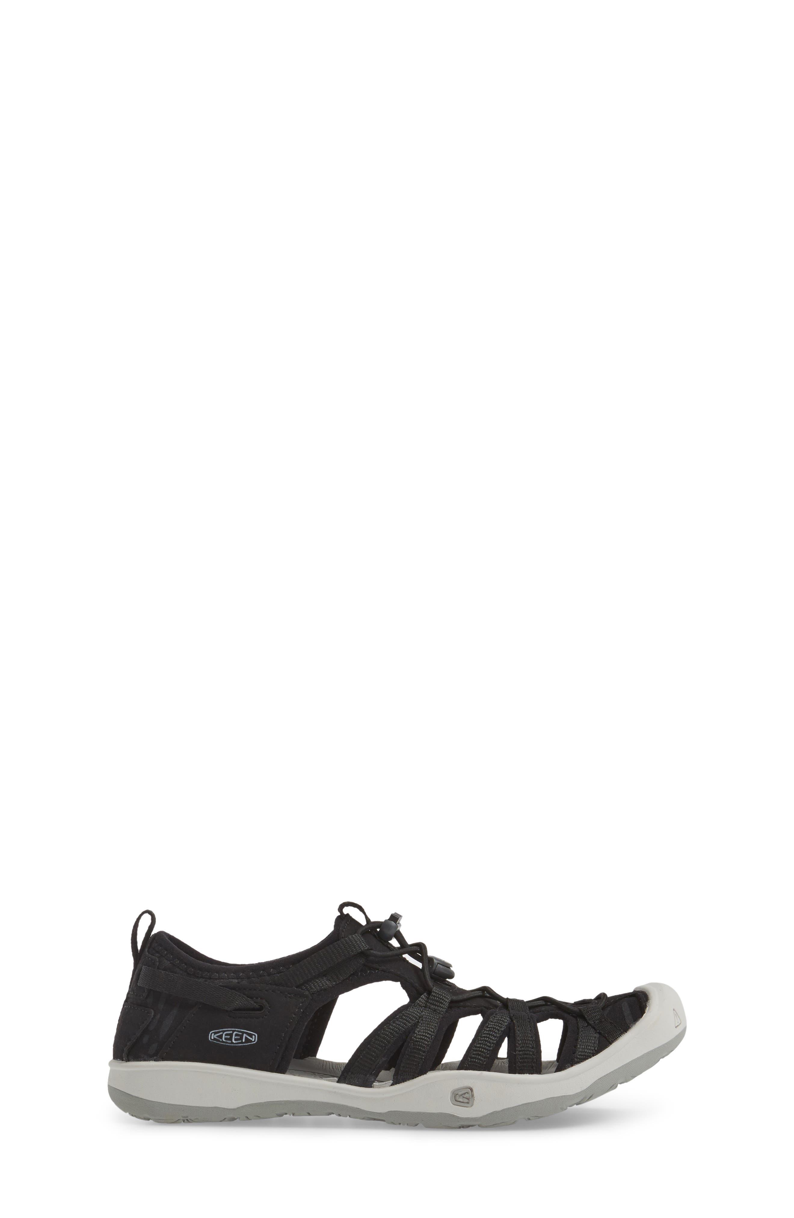 KEEN, Moxie Water Friendly Sandal, Alternate thumbnail 3, color, BLACK/ VAPOR