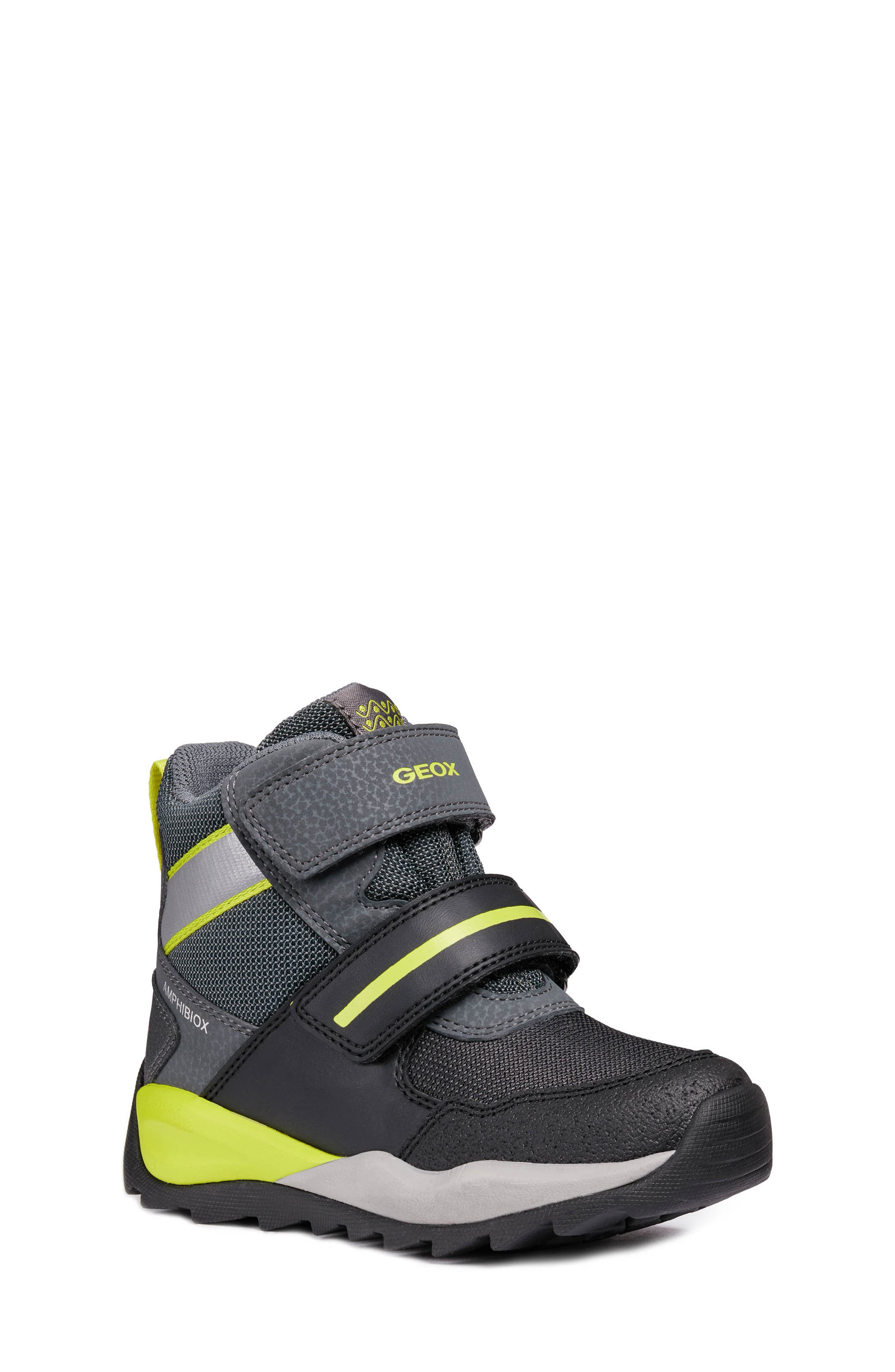 GEOX, Orizont ABX Waterproof Boot, Main thumbnail 1, color, BLACK/ LIME