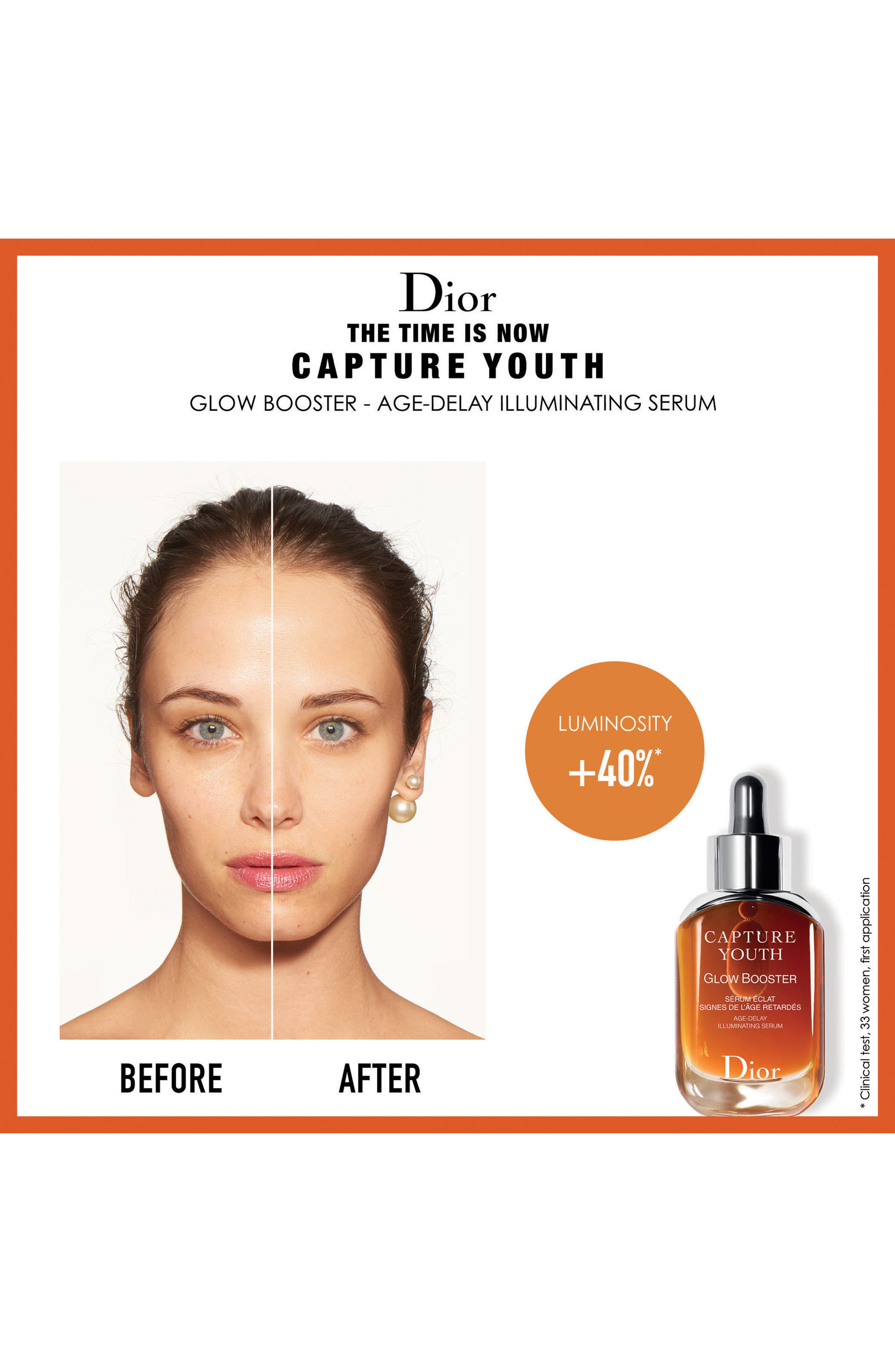 DIOR, Capture Youth Glow Booster Age-Delay Illuminating Serum, Alternate thumbnail 3, color, NO COLOR