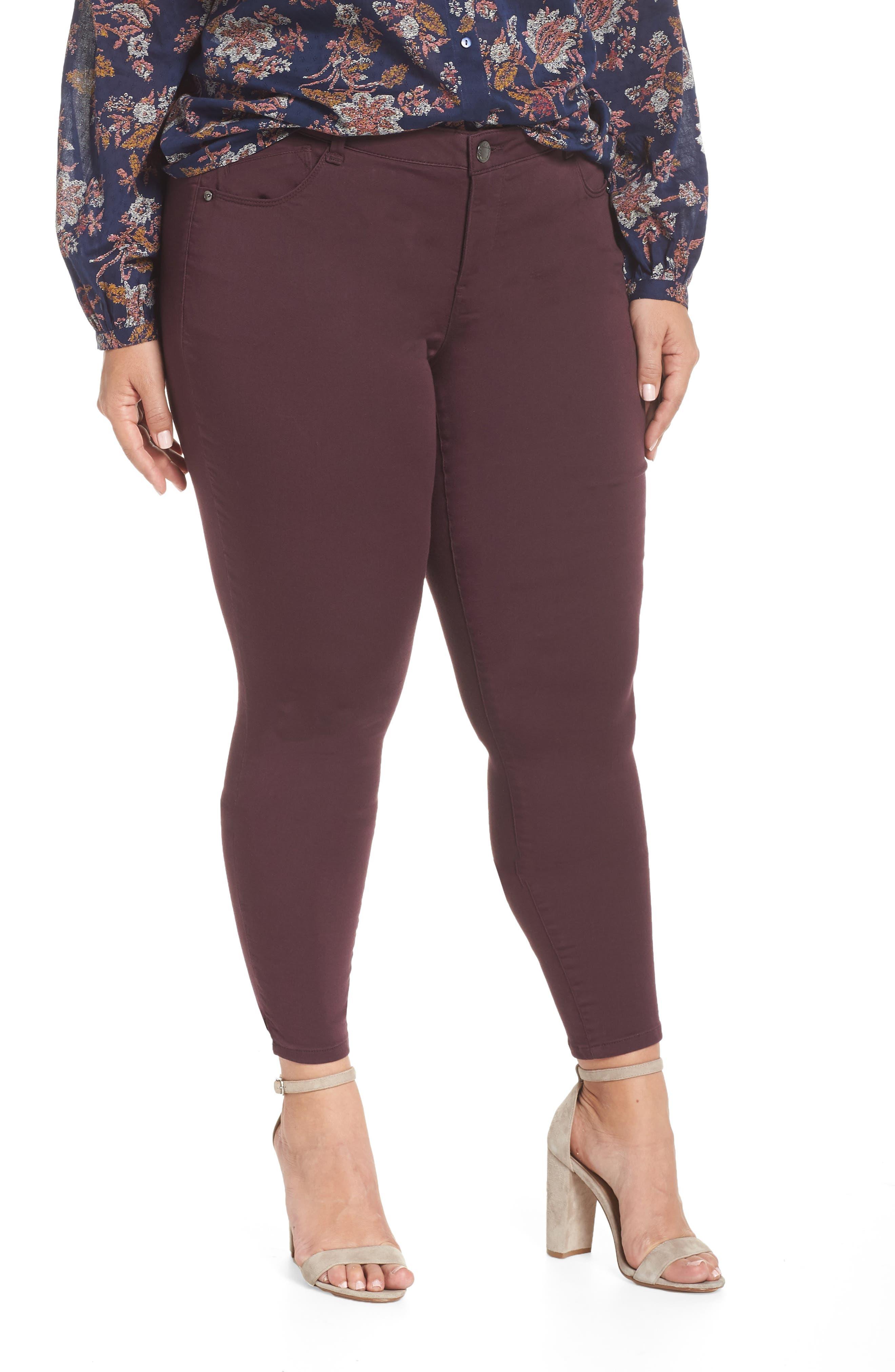 WIT & WISDOM Ab-Solution Ankle Skimmer Jeans, Main, color, DARK BYZANTIUM