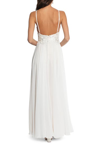 192af767 Xscape Beaded 3D Floral Lace Chiffon Evening Dress | Nordstrom