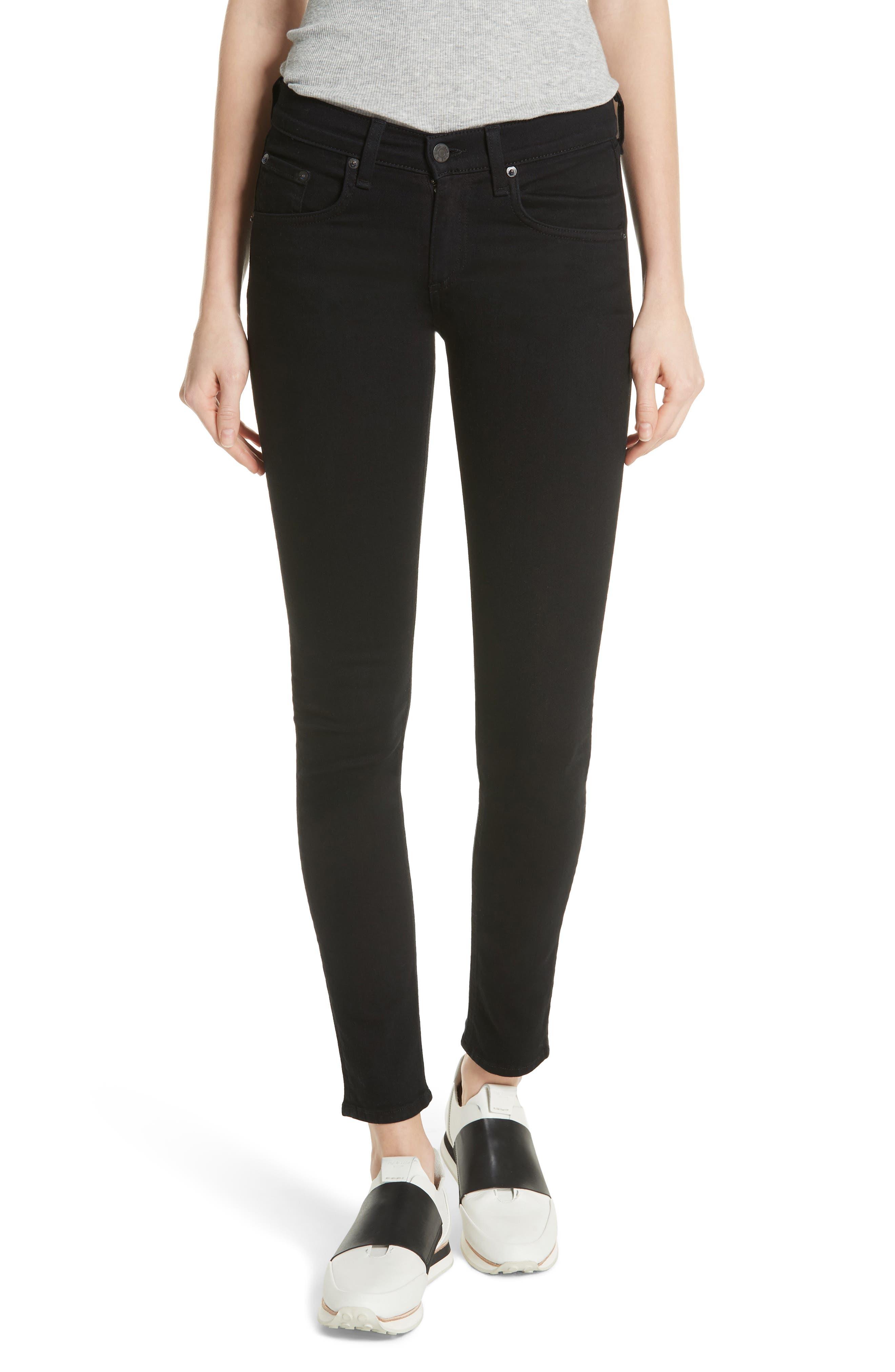 RAG & BONE 'The Skinny' Stretch Jeans, Main, color, COAL