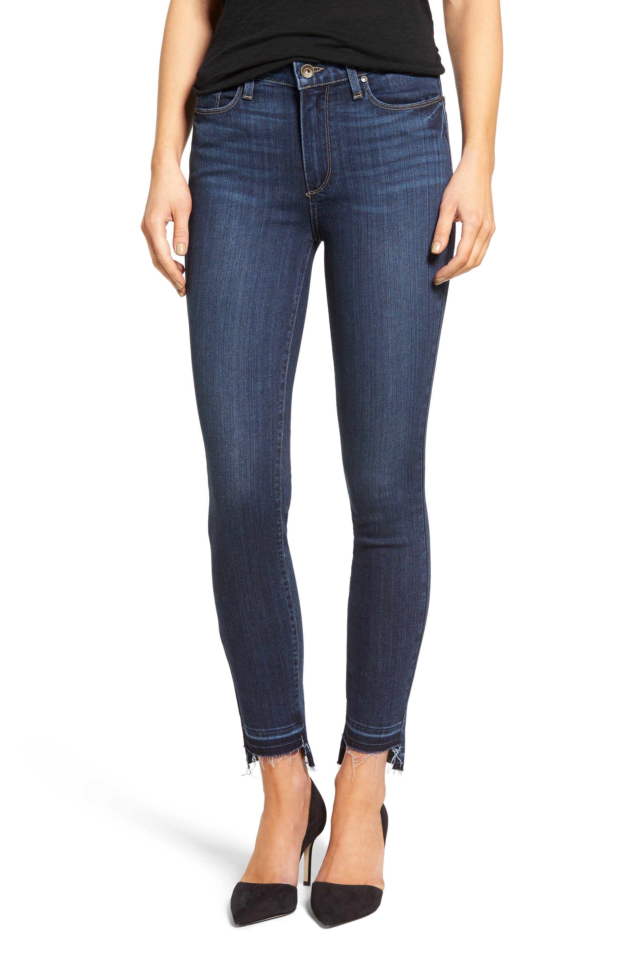 PAIGE Hoxton High Waist Skinny Jeans, Main, color, 400
