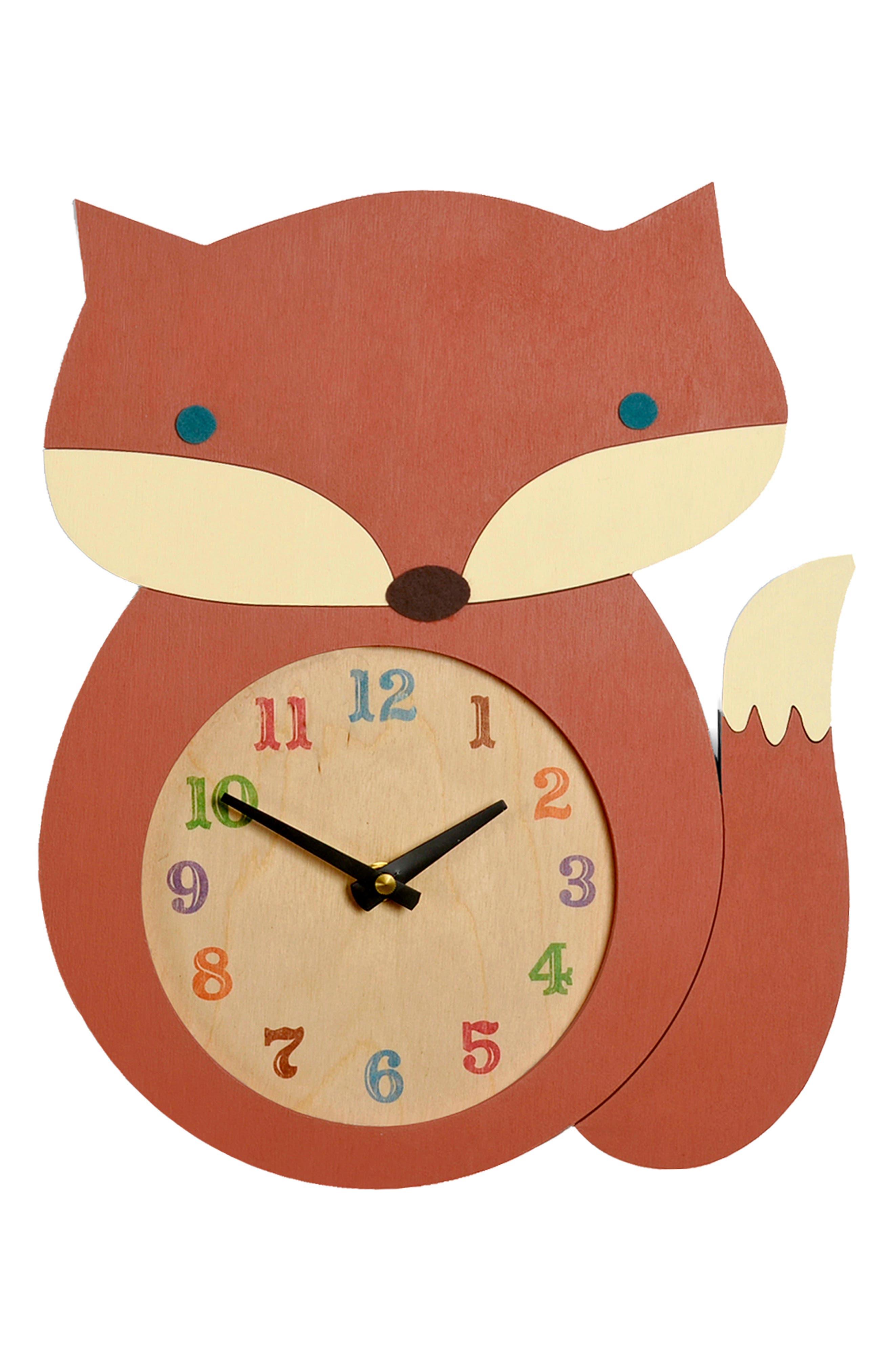 TREE BY KERRI LEE, Fox Clock, Main thumbnail 1, color, FOX
