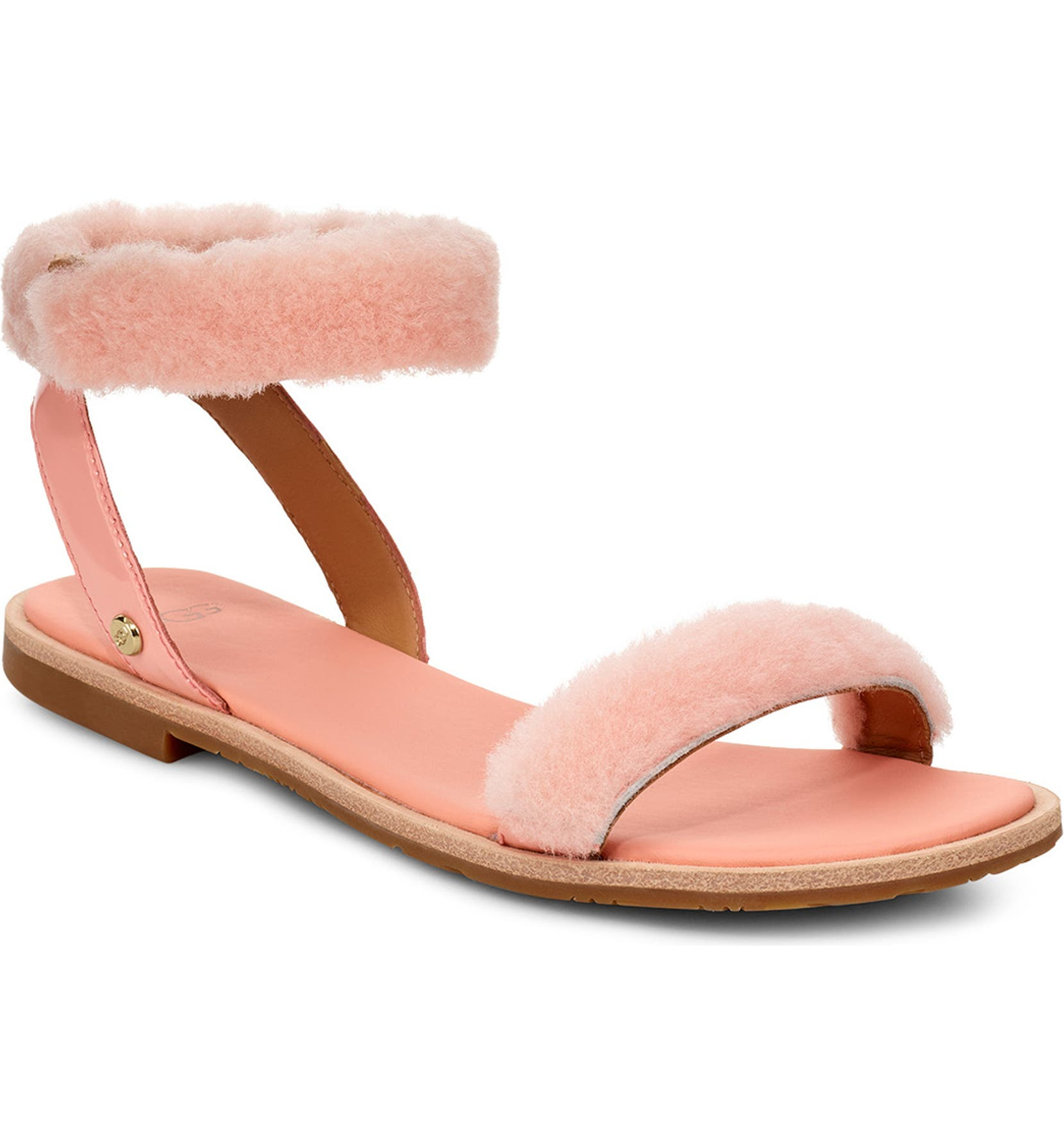ed893207a50 UGG® Fluff Springs Genuine Shearling Sandal (Women)
