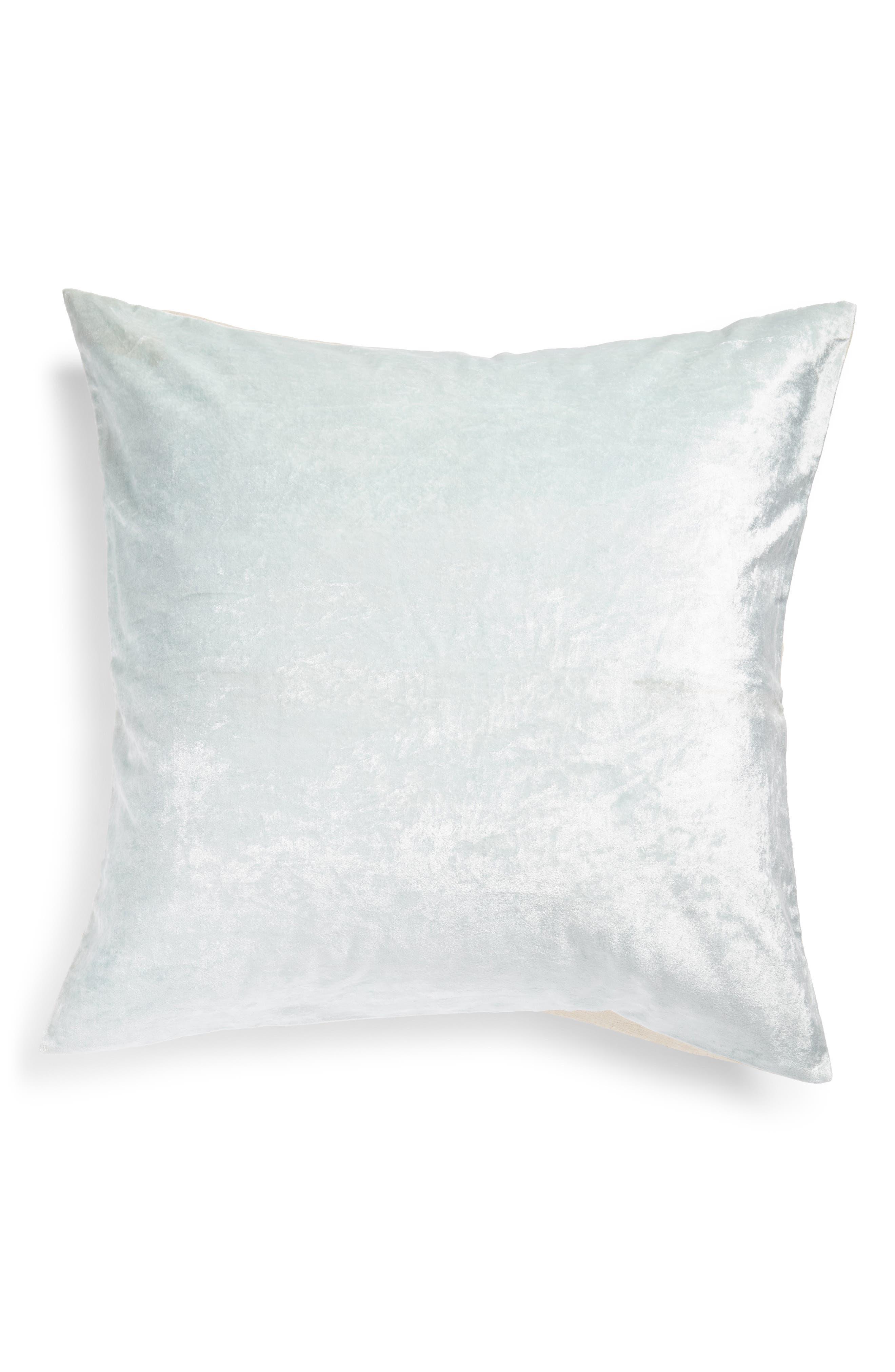 NORDSTROM AT HOME Shimmer Velvet Euro Sham, Main, color, TEAL STEAM