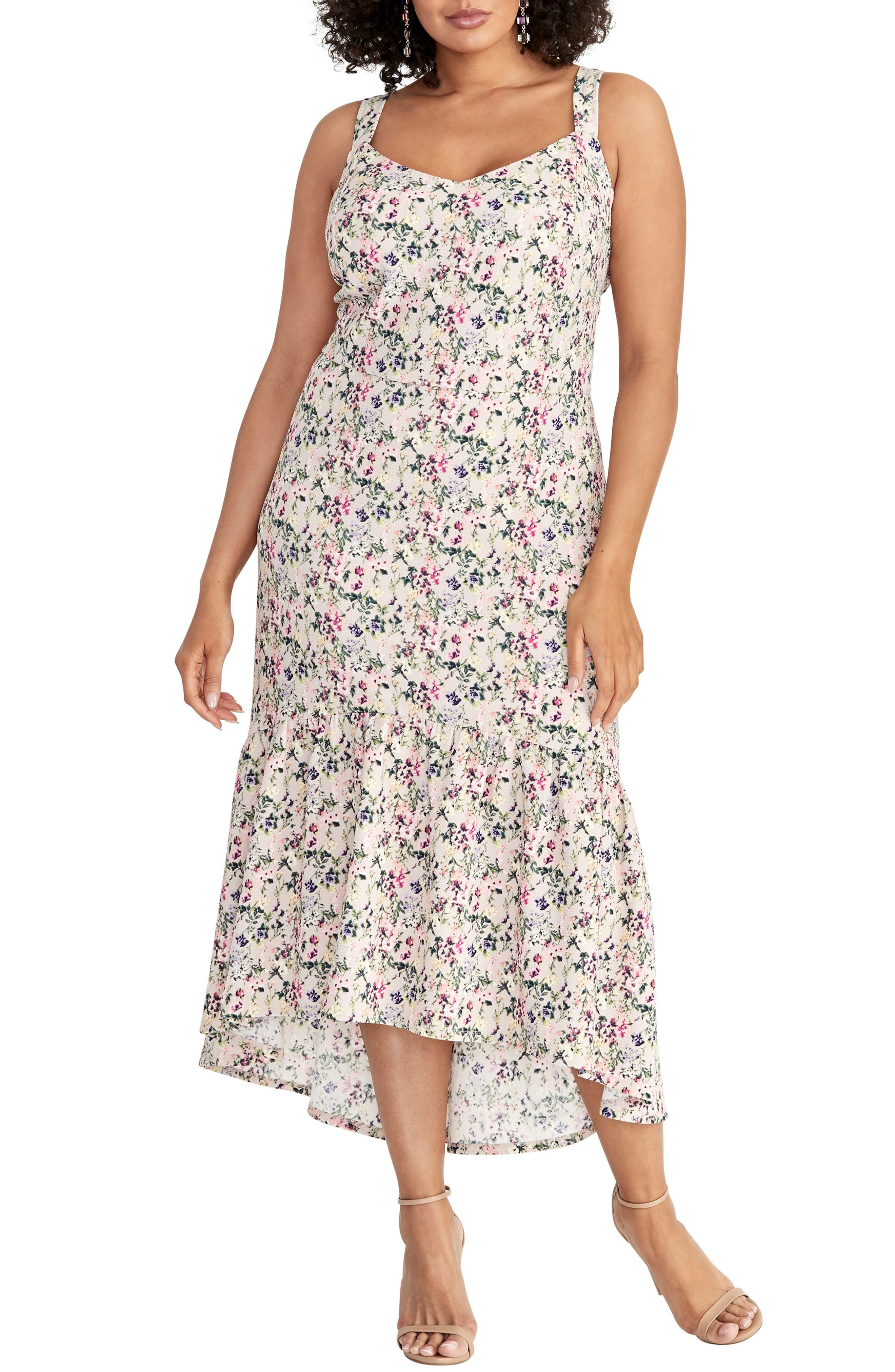 Plus Size Rachel Rachel Roy High/low Midi Sundress, Pink