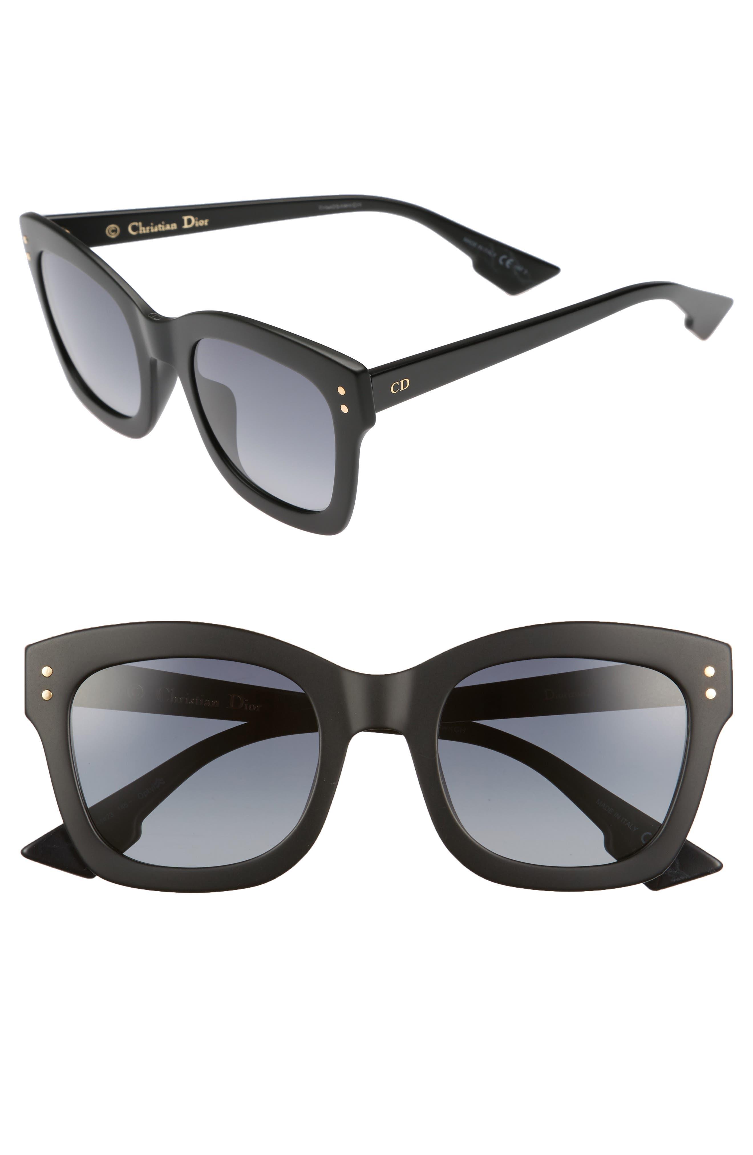 DIOR Izon 51mm Sunglasses, Main, color, BLACK