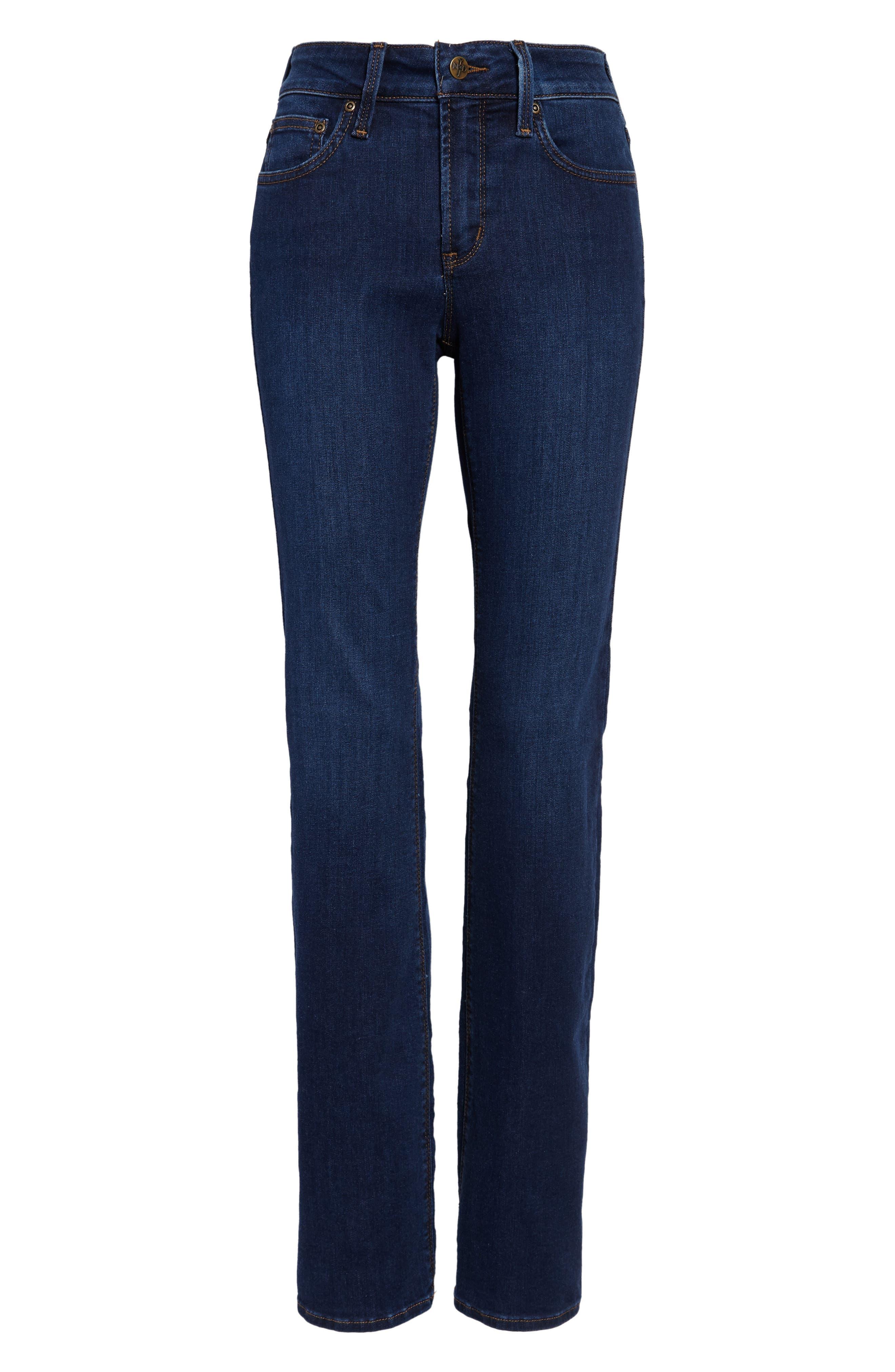 NYDJ, Barbara High Waist Stretch Bootcut Jeans, Alternate thumbnail 5, color, COOPER