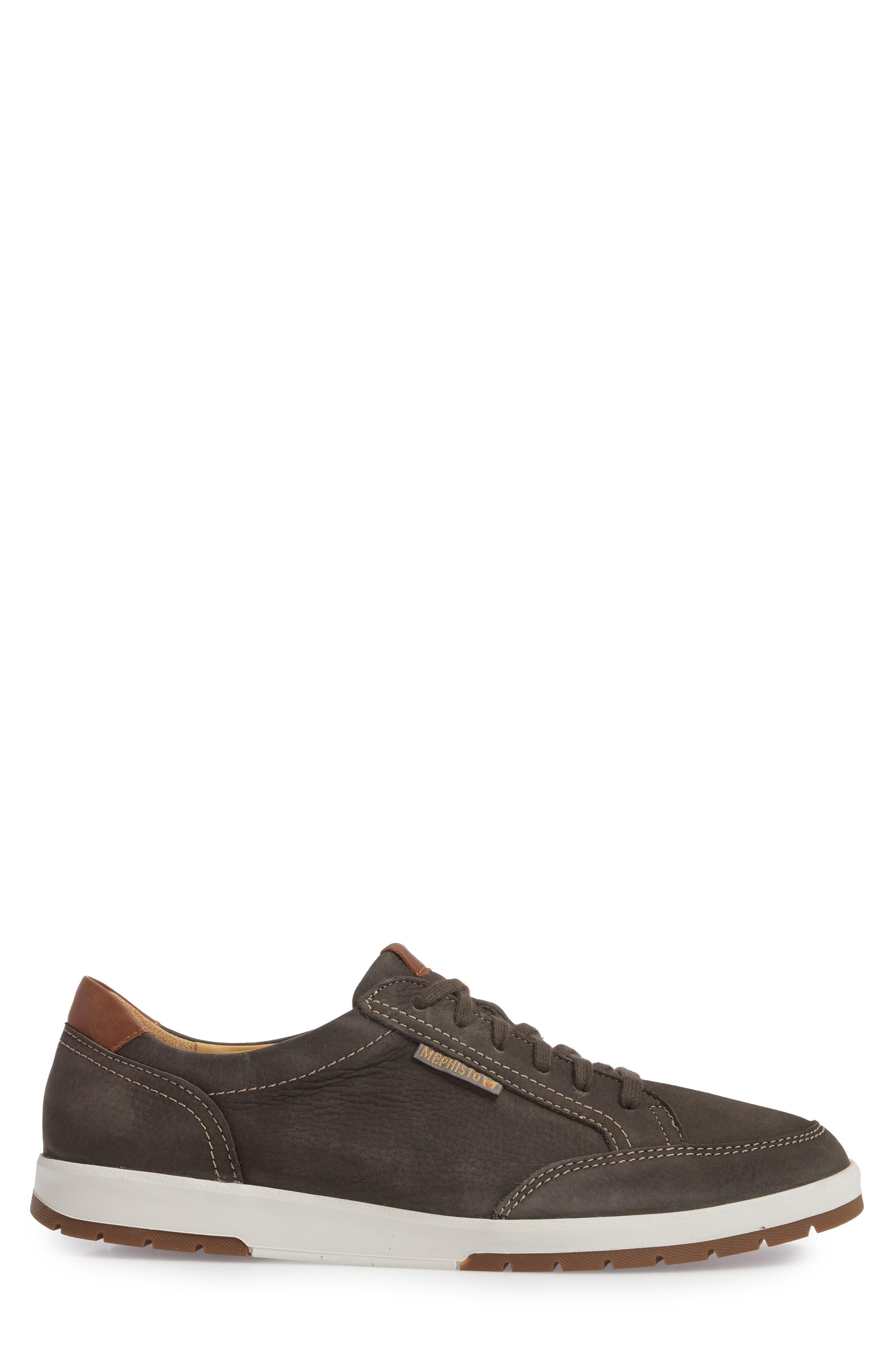 MEPHISTO, 'Ludo' Sneaker, Alternate thumbnail 3, color, GRAPHITE