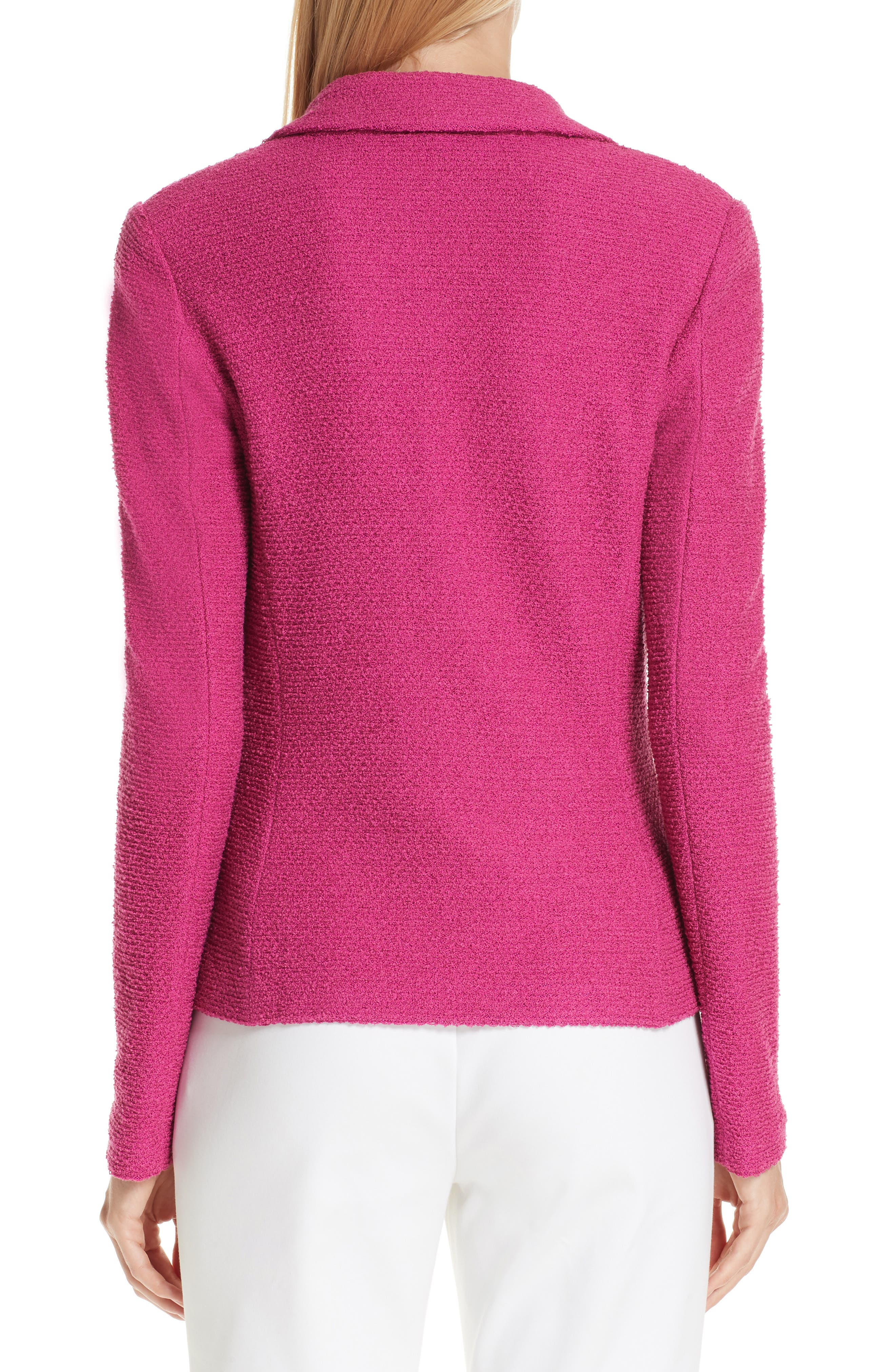 ST. JOHN COLLECTION, Refined Knit Jacket, Alternate thumbnail 2, color, CAMELLIA