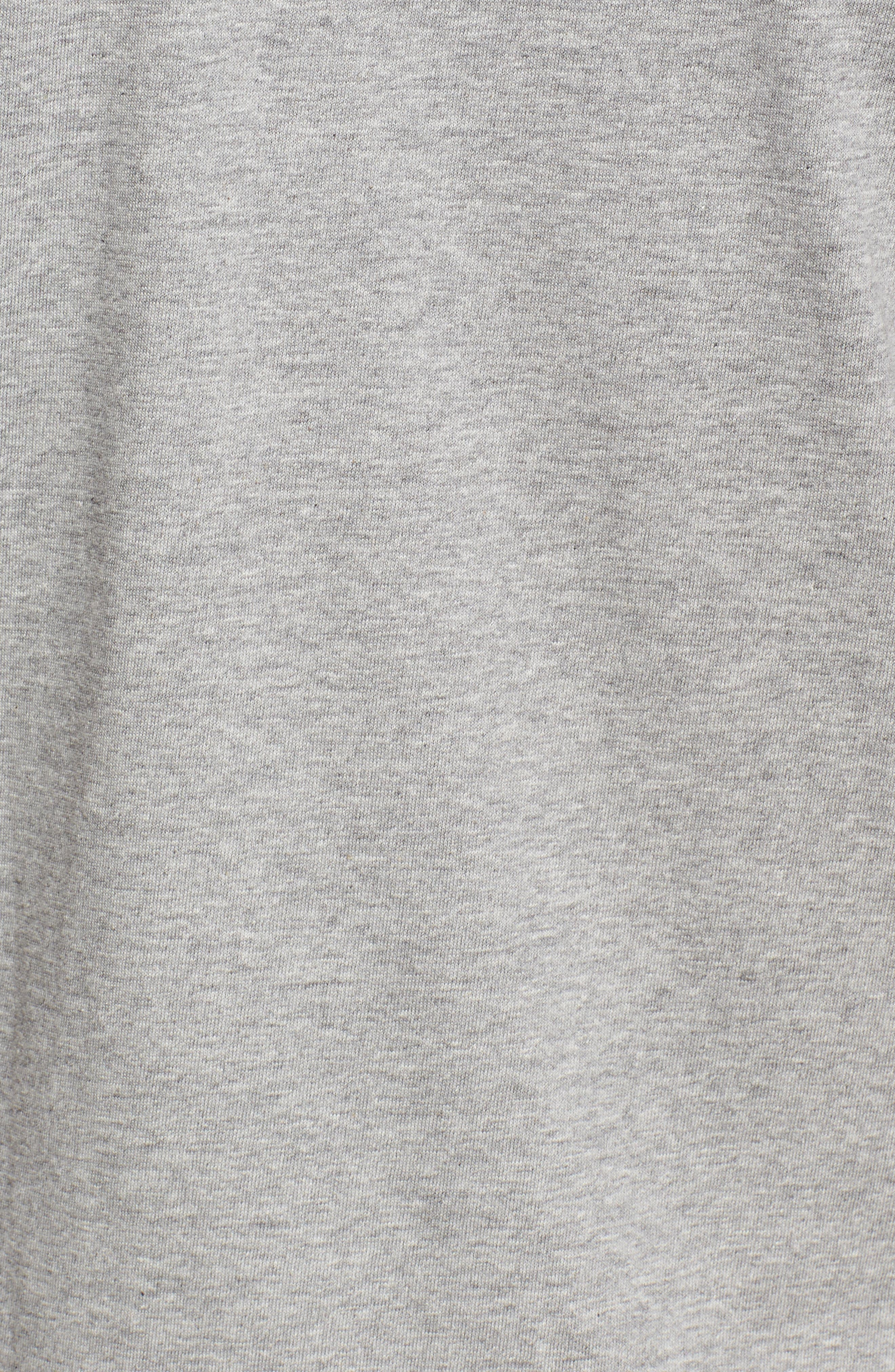COMME DES GARÇONS PLAY, Crewneck T-Shirt, Alternate thumbnail 5, color, GREY 3