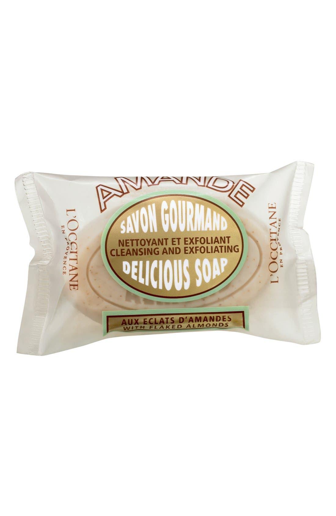 L'OCCITANE, Almond Delicious Soap, Alternate thumbnail 2, color, NO COLOR