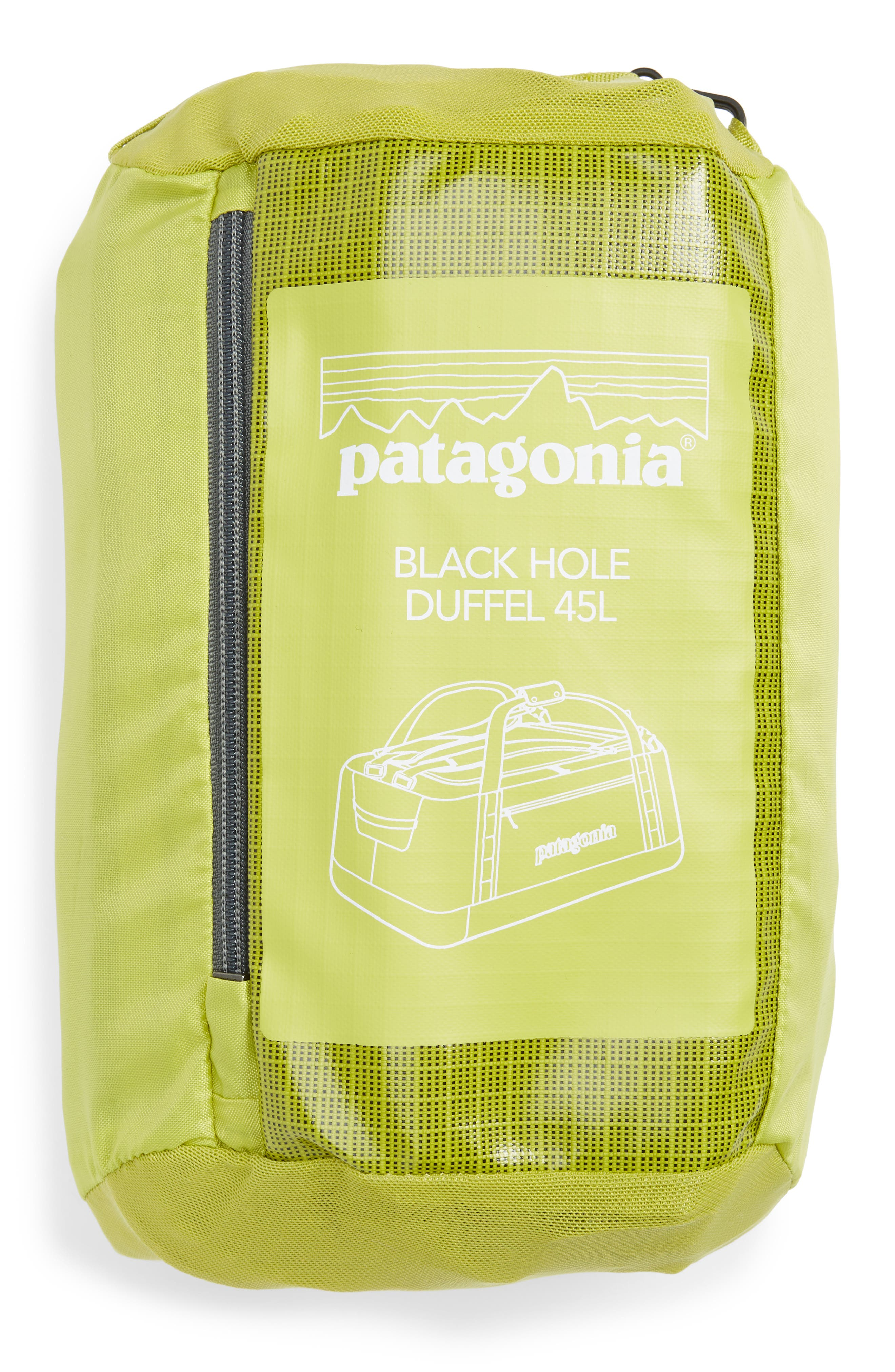 PATAGONIA, Black Hole Water Repellent 45-Liter Duffel Bag, Alternate thumbnail 9, color, FOLIOS GREEN