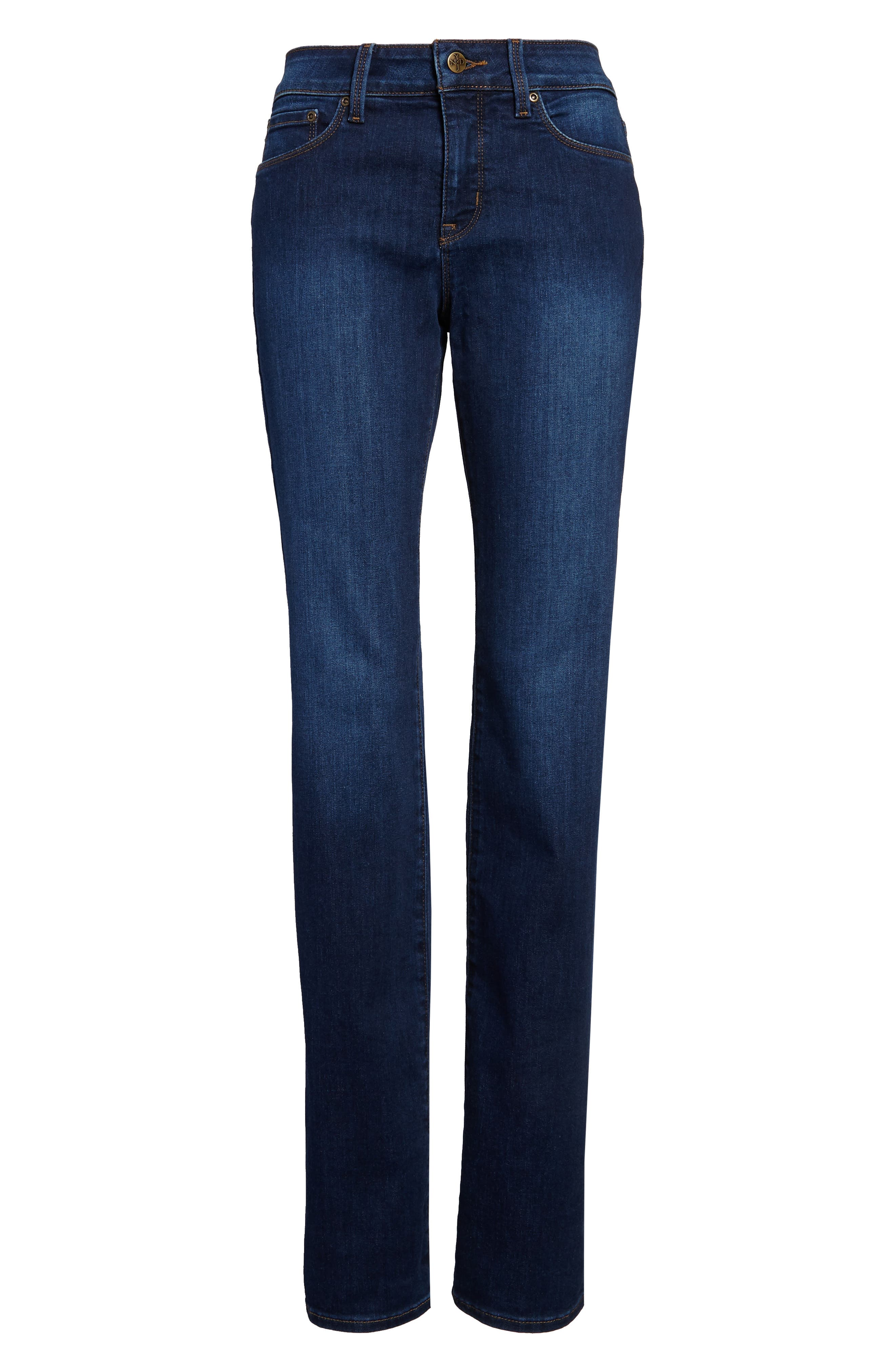 NYDJ, Marilyn High Waist Stretch Straight Leg Jeans, Alternate thumbnail 5, color, COOPER