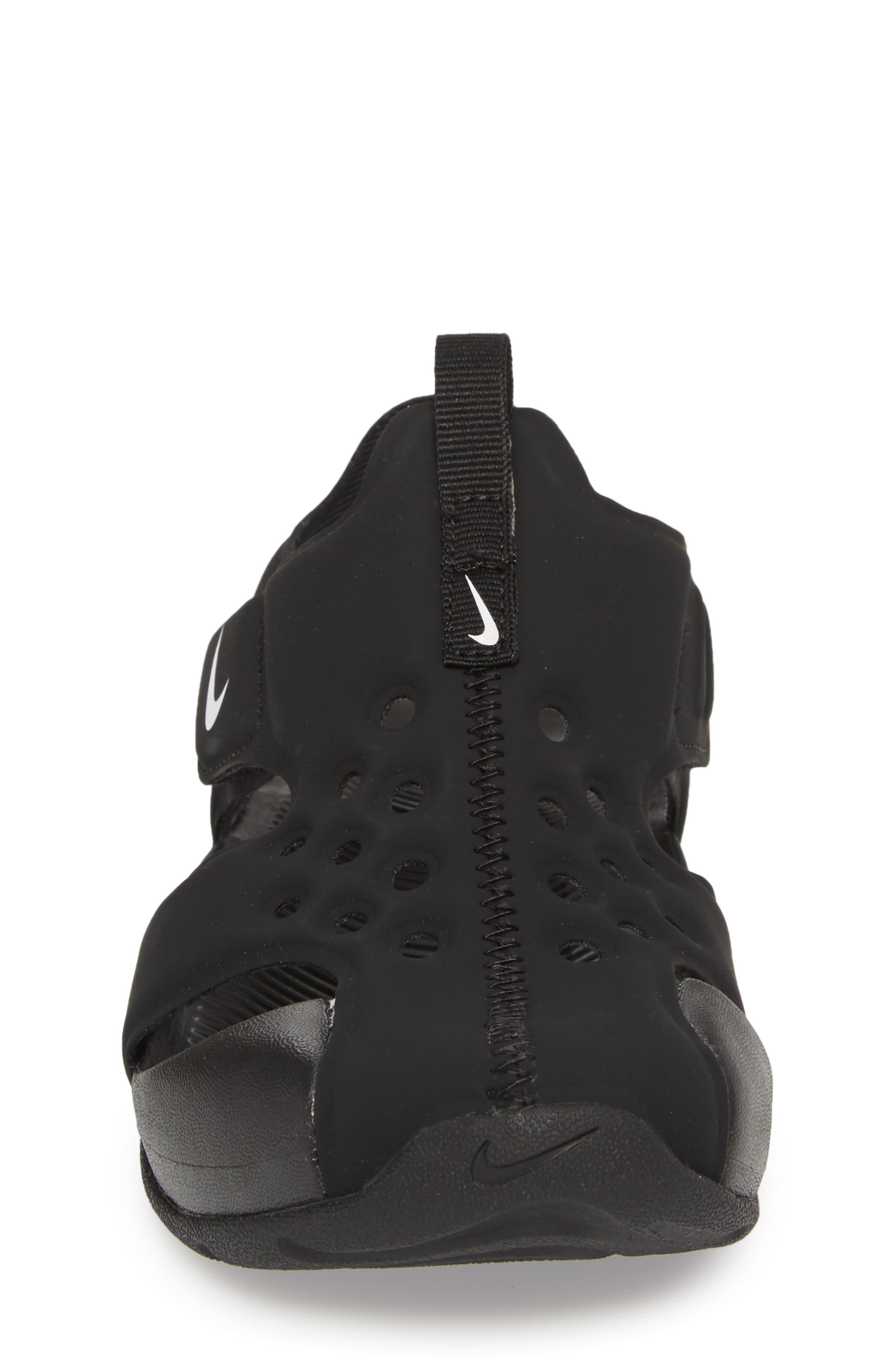 NIKE, Sunray Protect 2 Sandal, Alternate thumbnail 4, color, BLACK/ WHITE