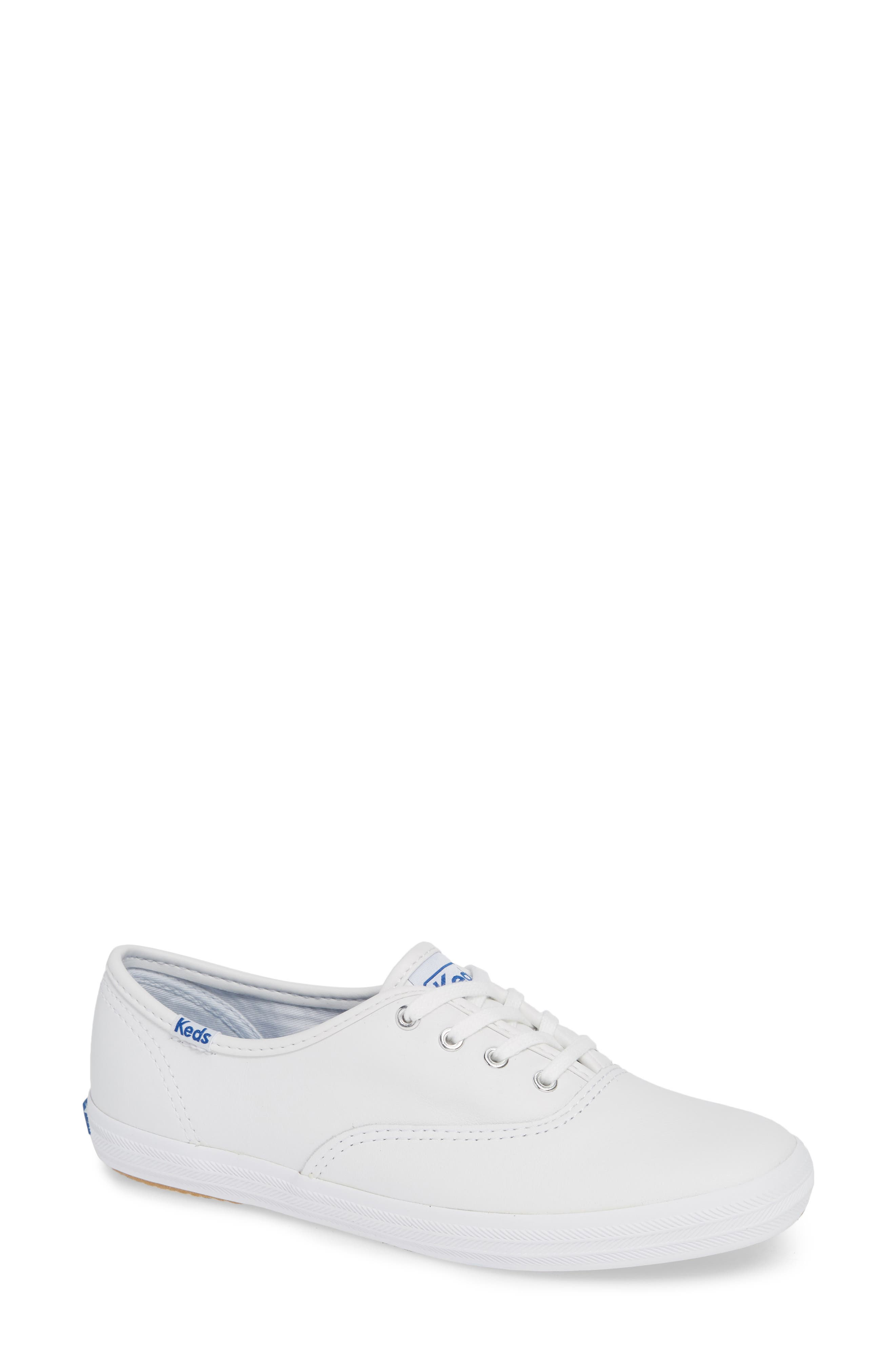 KEDS<SUP>®</SUP>, 'Champion  Leather' Sneaker, Alternate thumbnail 2, color, White