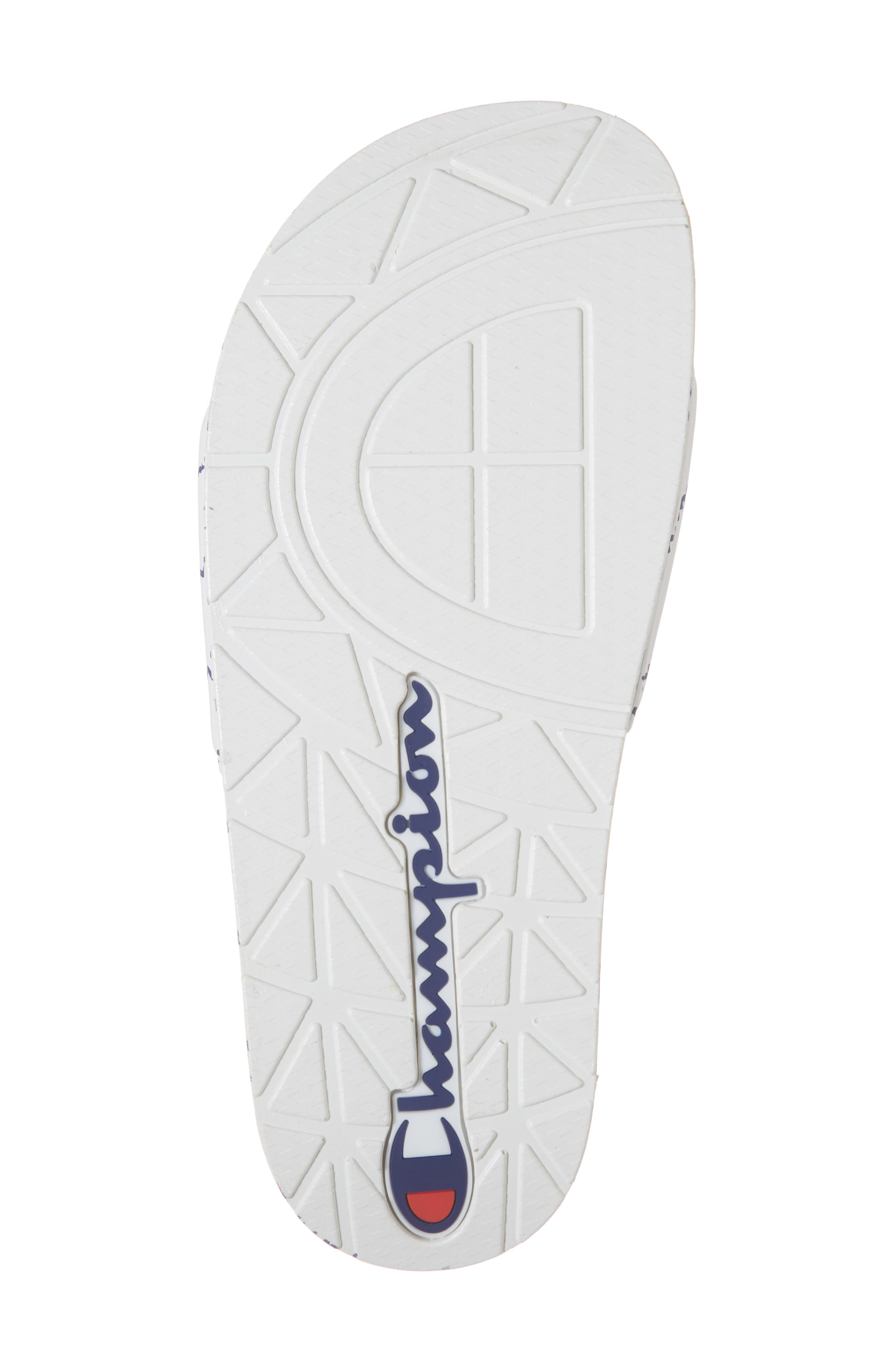 CHAMPION, IPO Repeat Sport Slide Sandal, Alternate thumbnail 6, color, 100