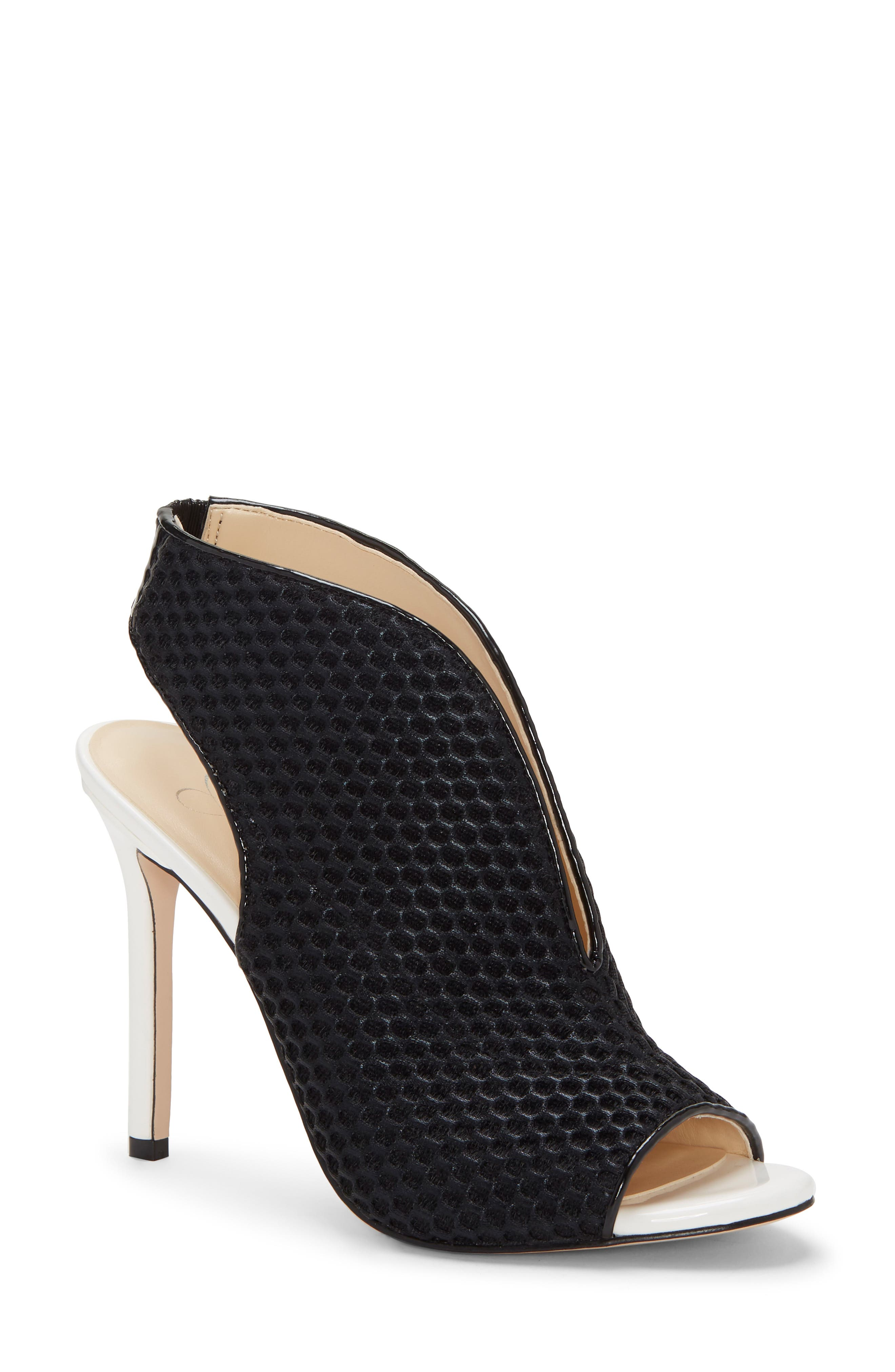 JESSICA SIMPSON Jarvey Sandal, Main, color, BLACK SPORT MESH