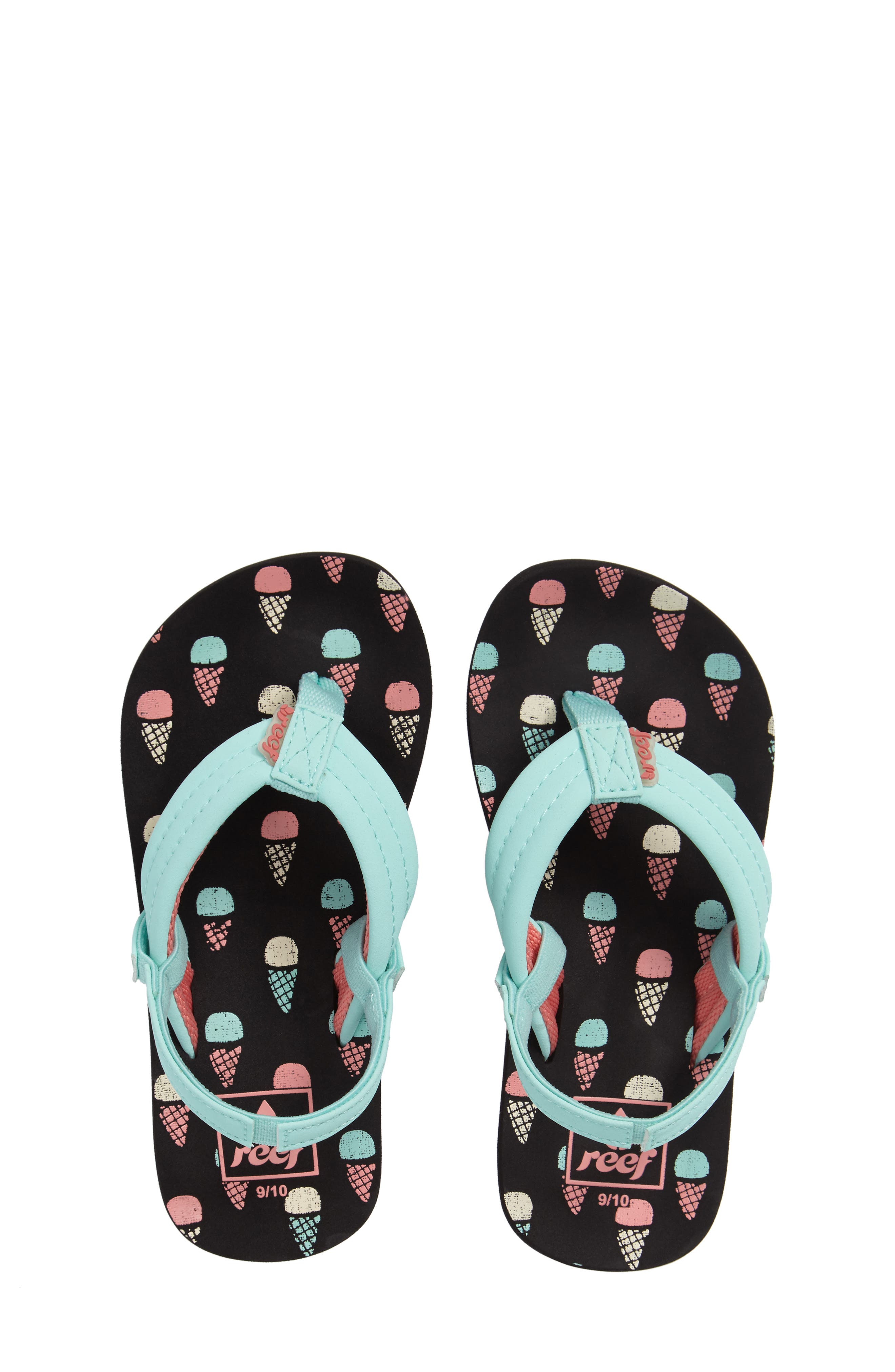 REEF 'Little Ahi' Thong Sandal, Main, color, ICE CREAM