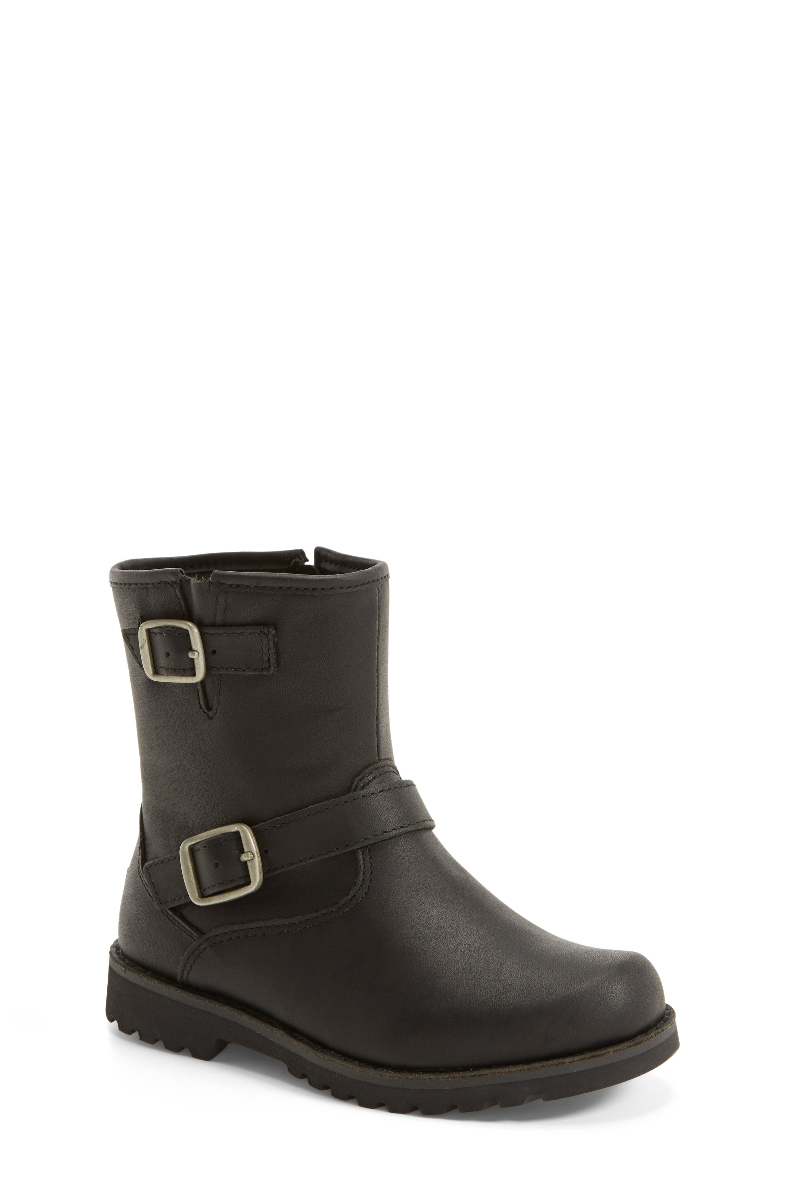 UGG<SUP>®</SUP>, Harwell Boot, Alternate thumbnail 6, color, BLACK
