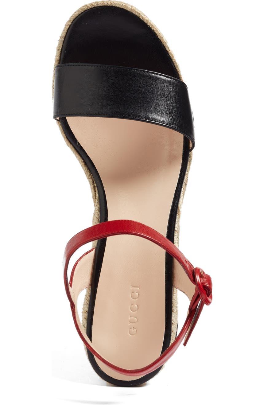 a686efc8852b Gucci Barbette Espadrille Wedge Sandal (Women)