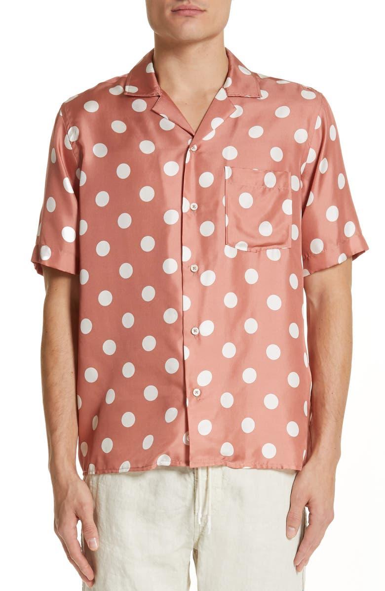 4d6b84d3ce57f PRESIDENT s Rangi Polka Dot Silk Shirt