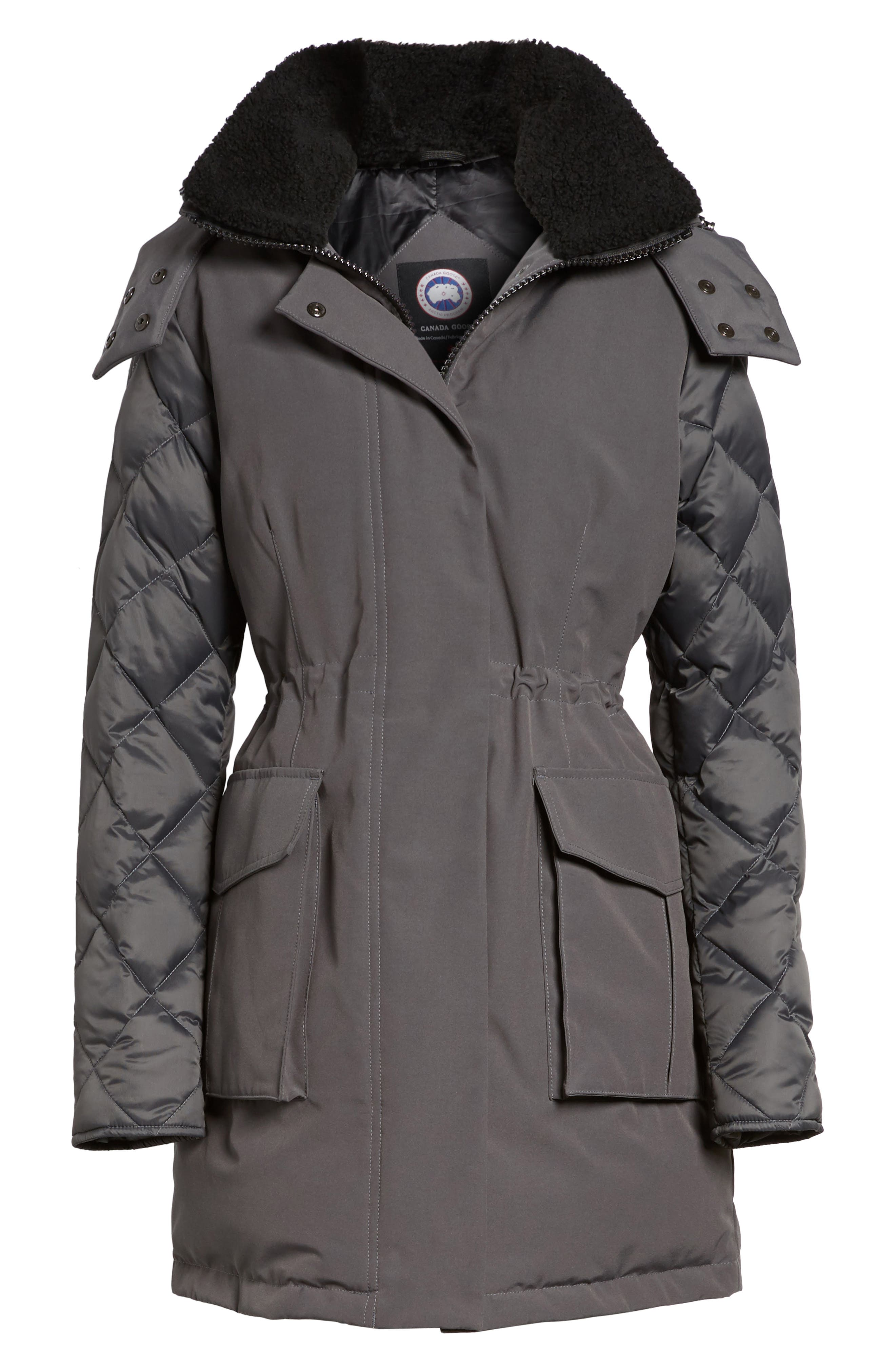 CANADA GOOSE, Elwin Power Fill Down Jacket, Alternate thumbnail 6, color, GRAPHITE