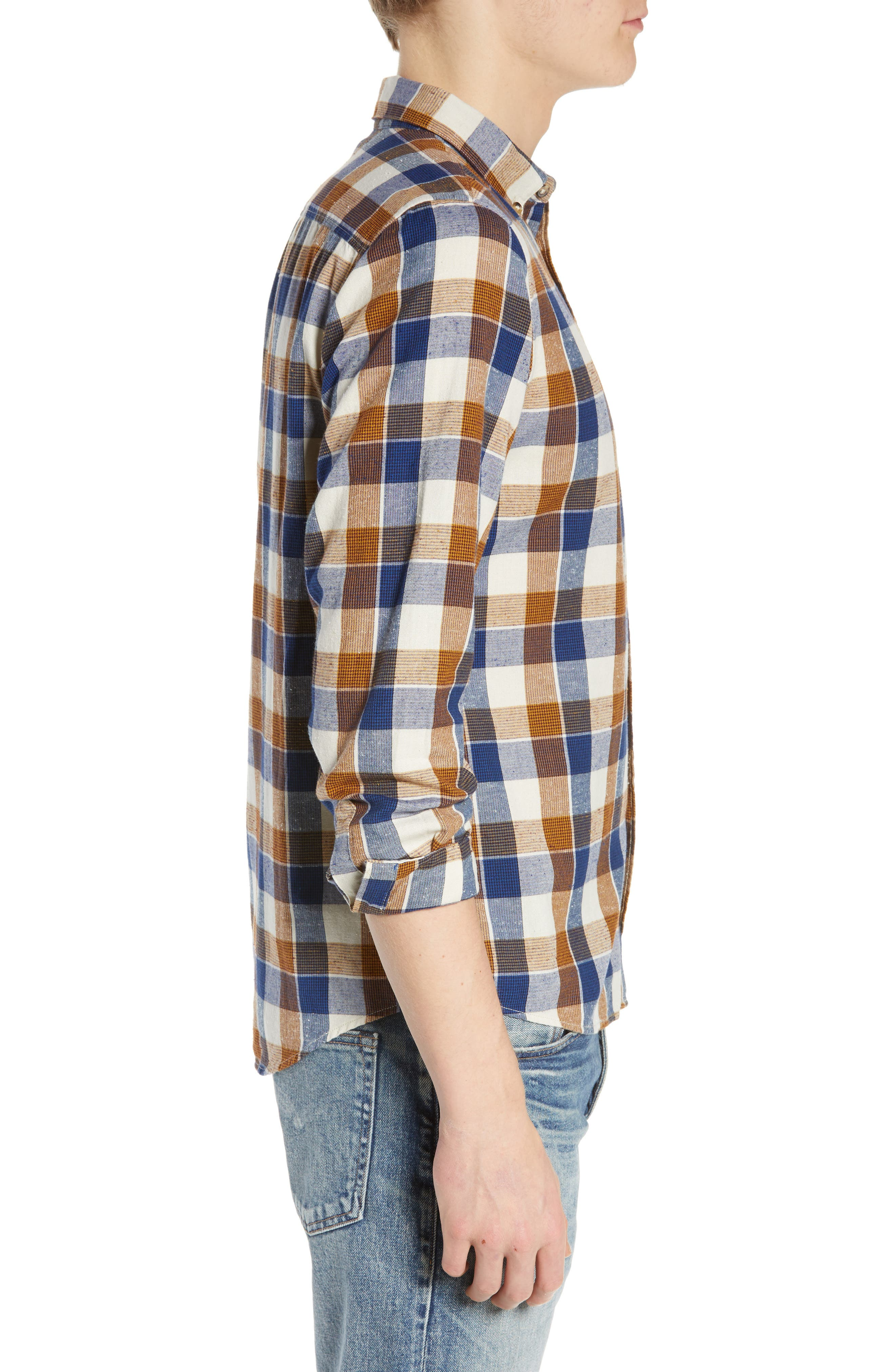 LEVI'S<SUP>®</SUP> MADE & CRAFTED<SUP>™</SUP>, Standard Plaid Sport Shirt, Alternate thumbnail 4, color, LEON PLAID MULTI
