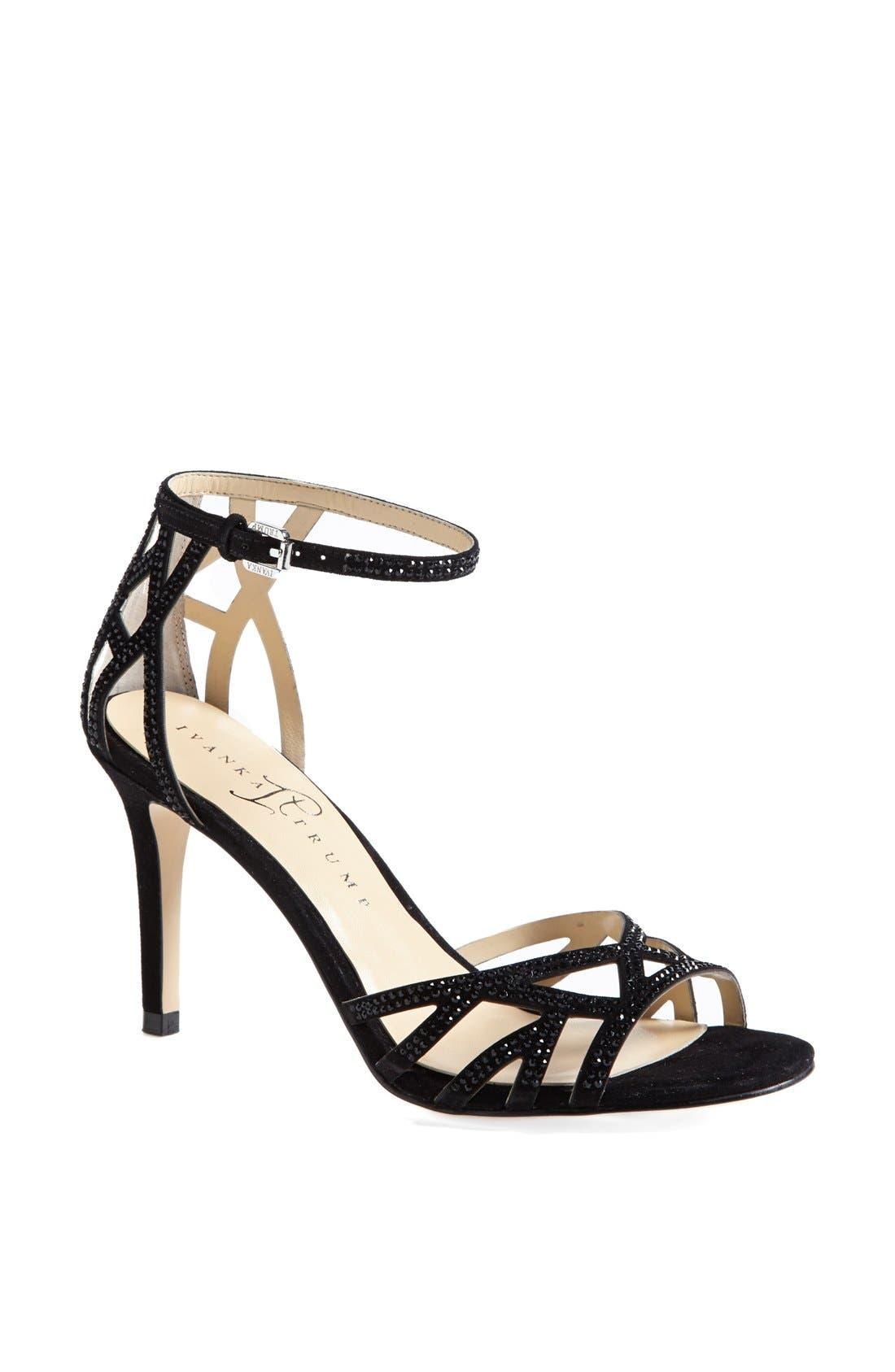 IVANKA TRUMP 'Gifford' Crystal Embellished Sandal, Main, color, 001