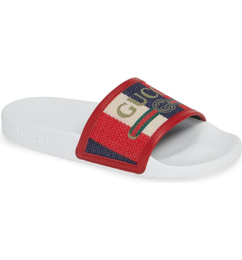 8321e265784 Gucci Sylvie Stripe Slide Sandal (Women)