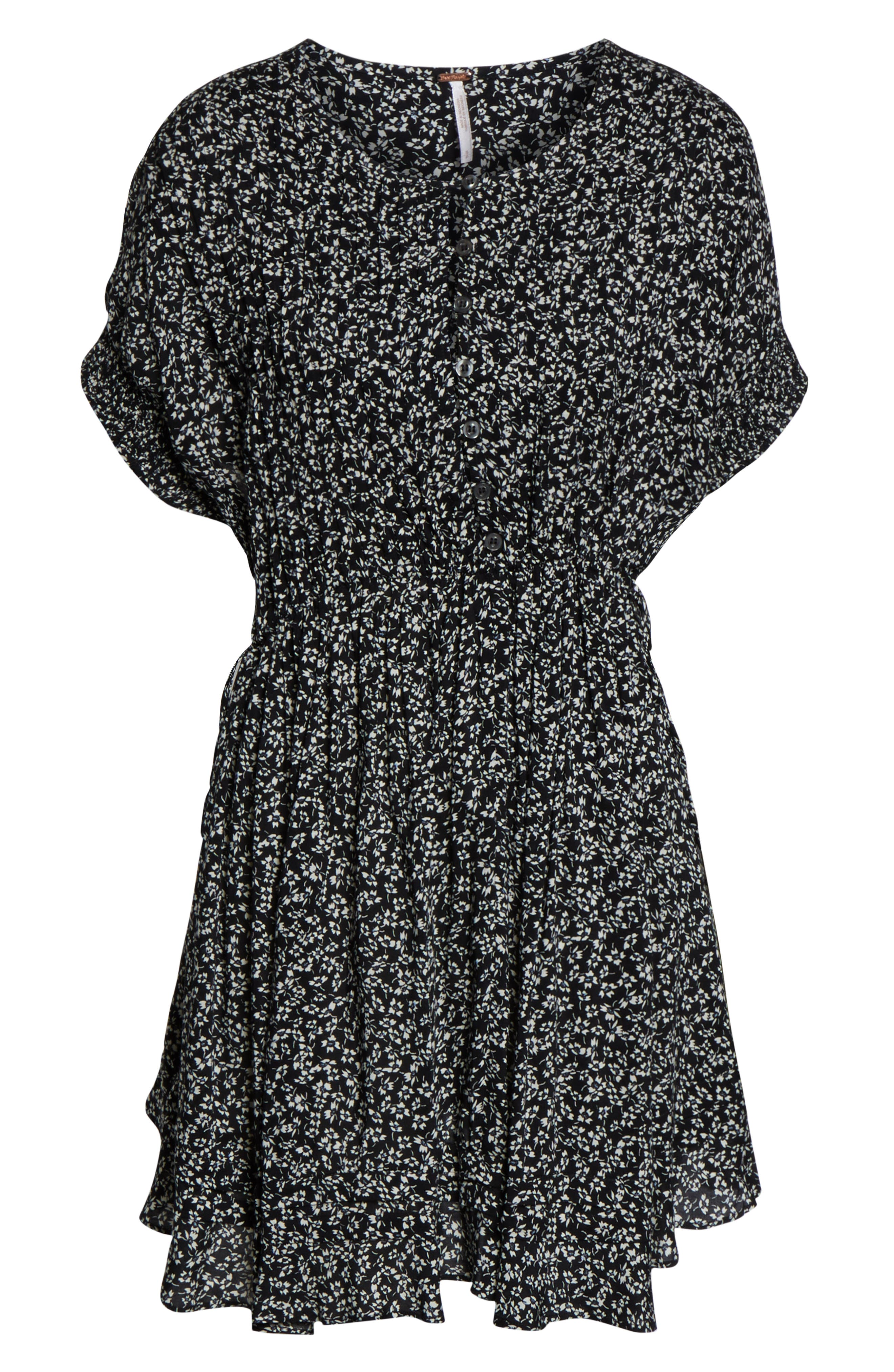 FREE PEOPLE, One Fine Day Minidress, Alternate thumbnail 6, color, 019