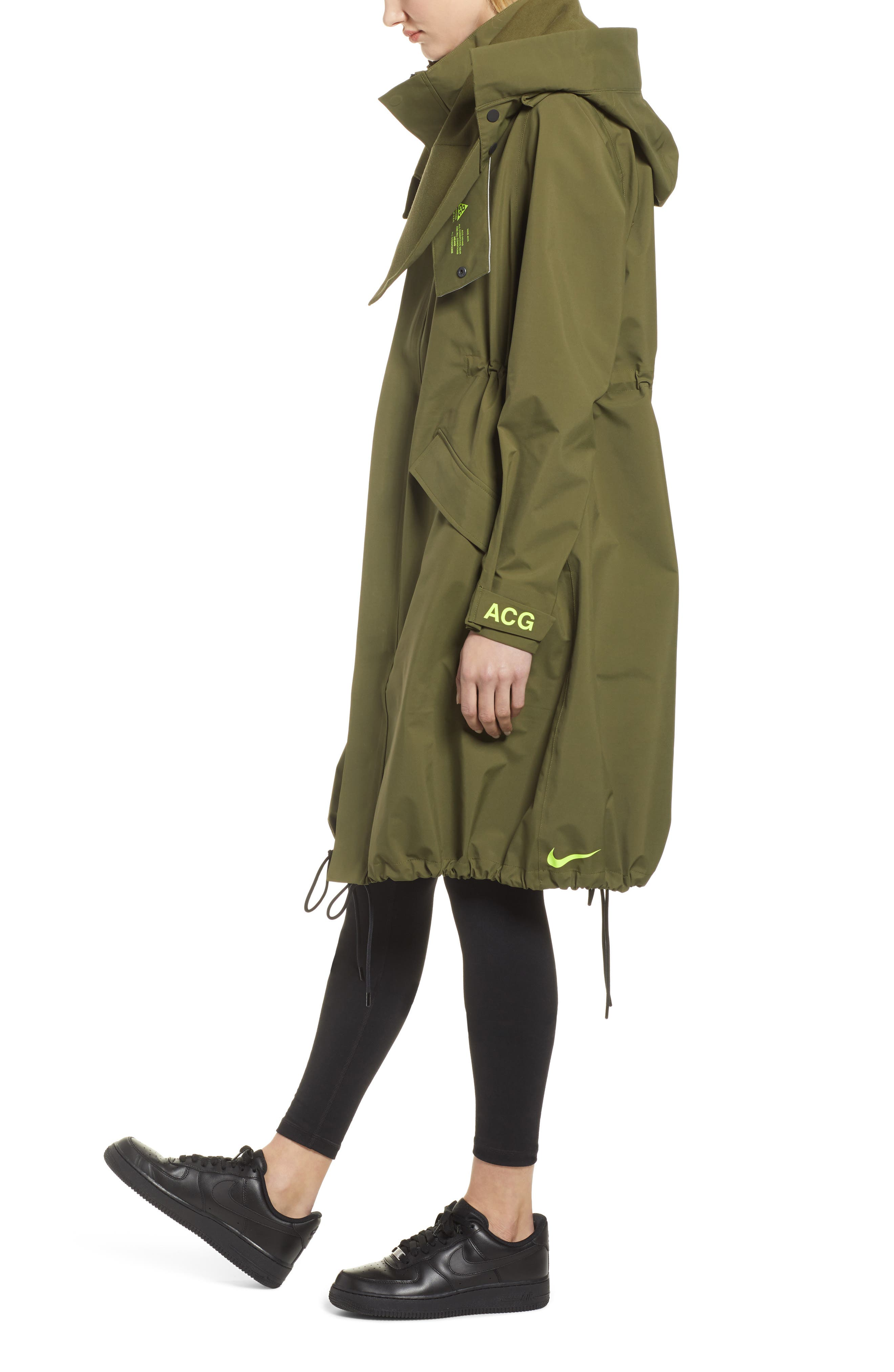 NIKE, NikeLab ACG GORE-TEX<sup>®</sup> Women's Jacket, Alternate thumbnail 5, color, OLIVE CANVAS