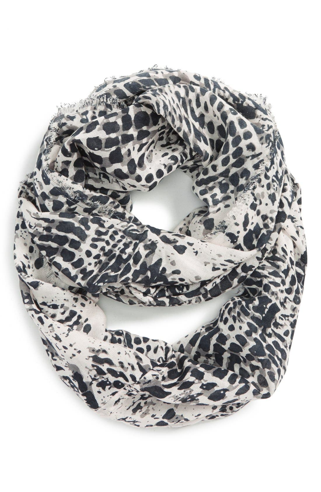 BP. 'Ink Blot' Infinity Scarf, Main, color, 001