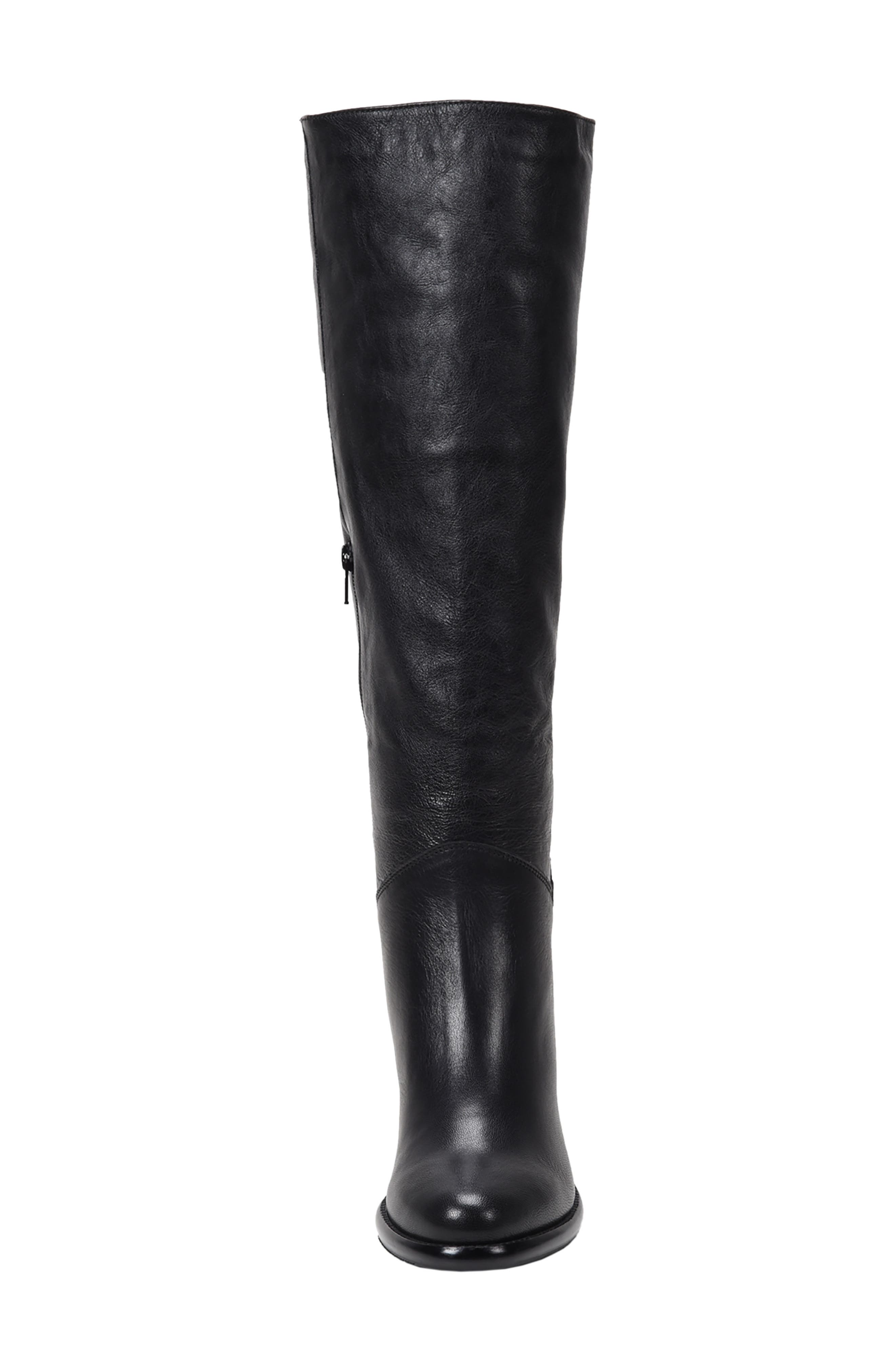 ROSS & SNOW, Michela SP Waterproof Genuine Shearling Lined Boot, Alternate thumbnail 3, color, BLACK METALLIC LEATHER