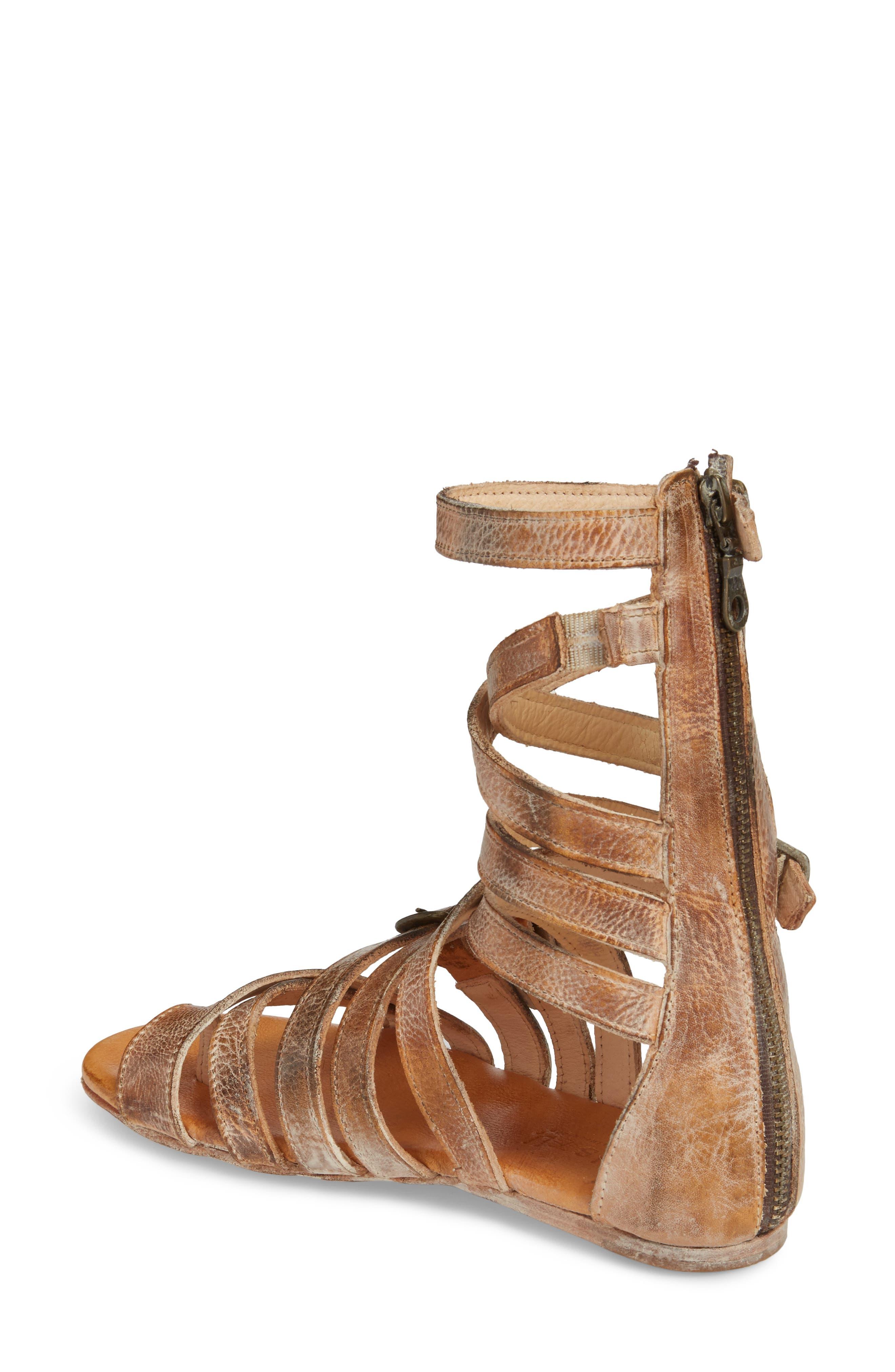 BED STU, Seneca Gladiator Sandal, Alternate thumbnail 2, color, TAN/ WHITE LEATHER