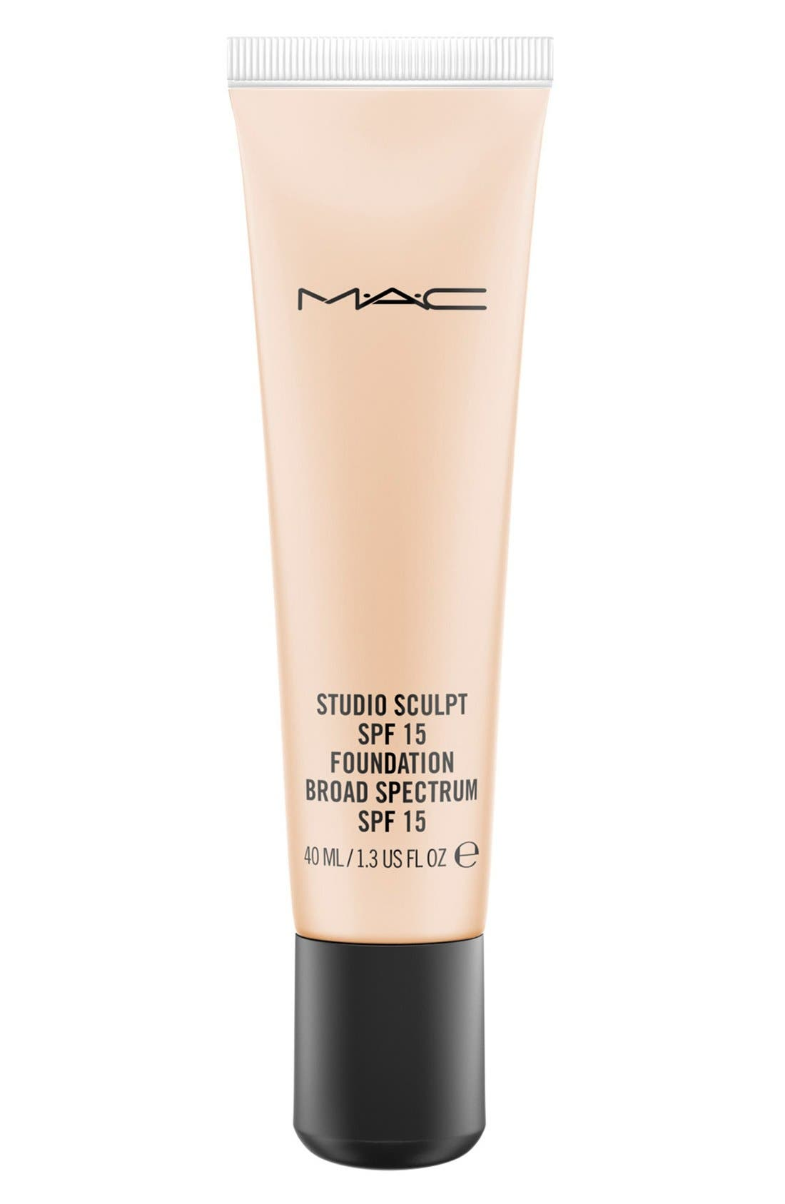 MAC COSMETICS, MAC Studio Sculpt SPF 15 Foundation, Main thumbnail 1, color, NC15