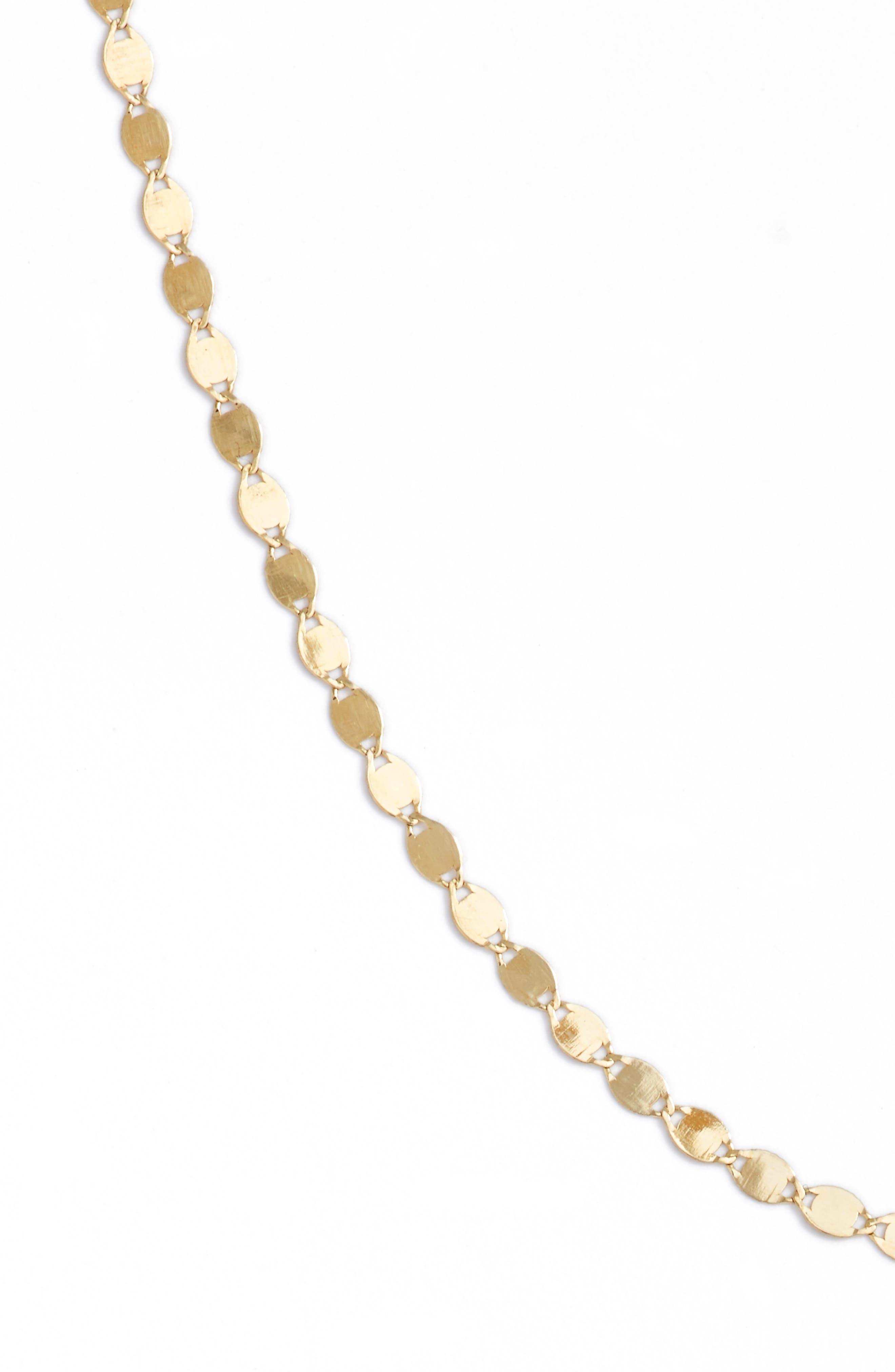 LANA JEWELRY, Petite Nude Chain Choker, Alternate thumbnail 5, color, YELLOW GOLD