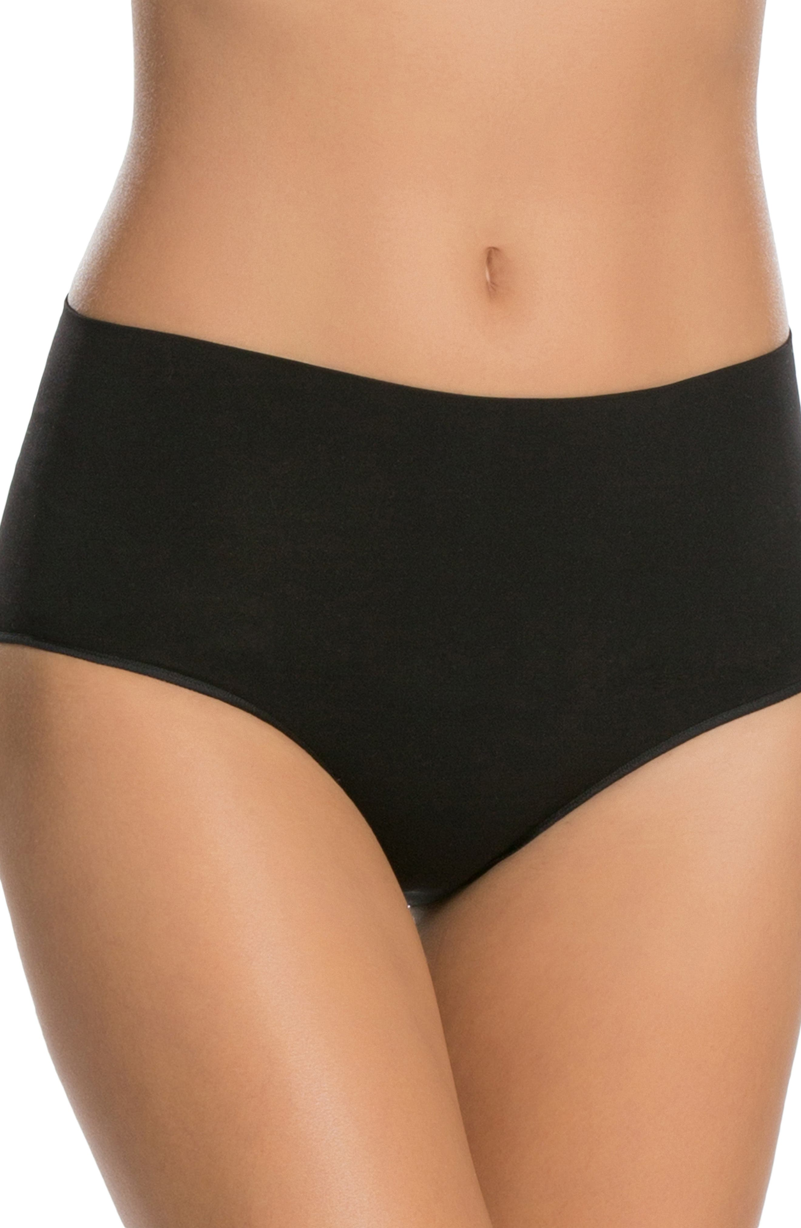 SPANX<SUP>®</SUP>, 'Everyday Shaping Panties' Briefs, Main thumbnail 1, color, BLACK