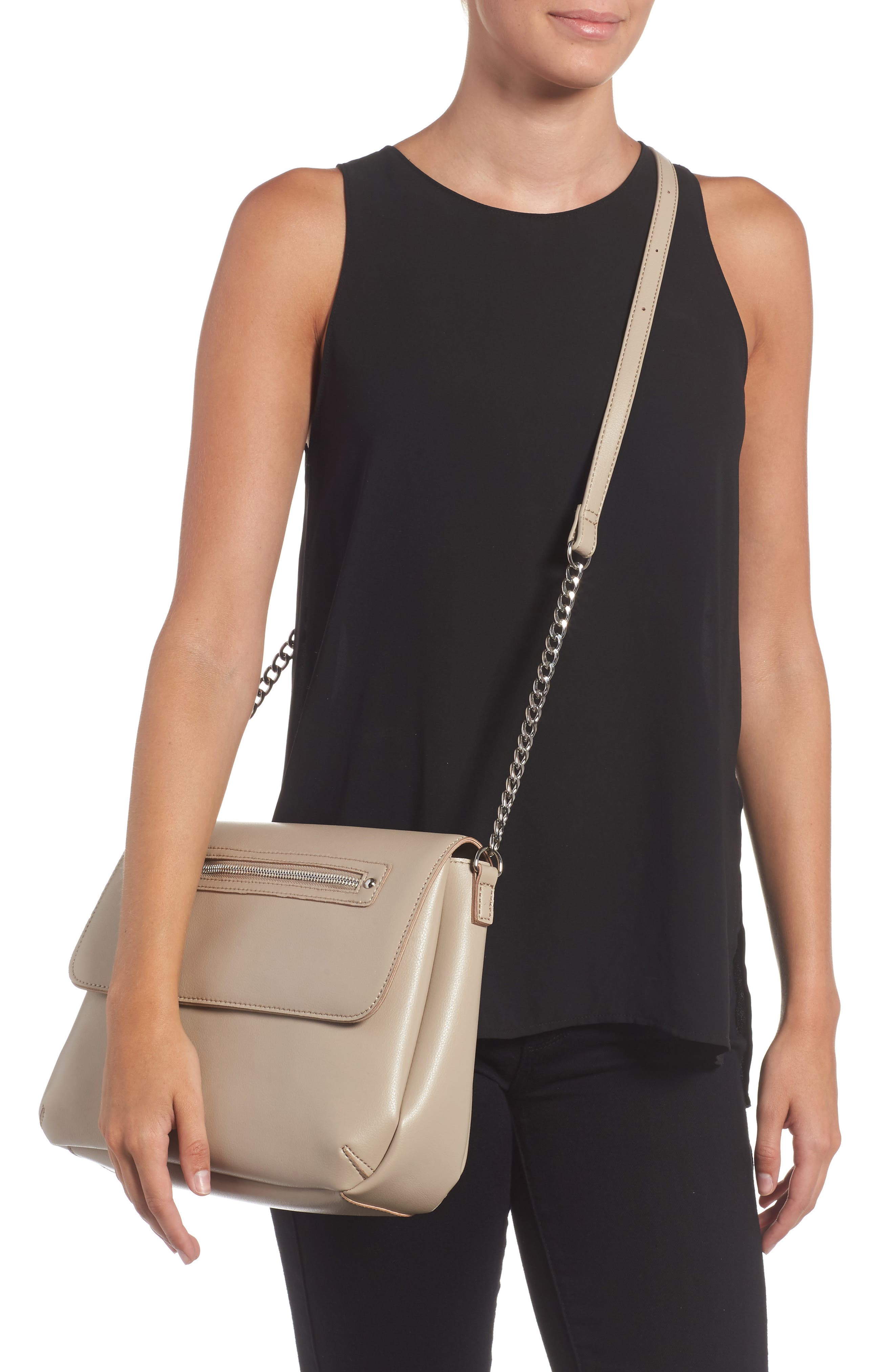 BP., Faux Leather Flap Crossbody Bag, Alternate thumbnail 2, color, 020