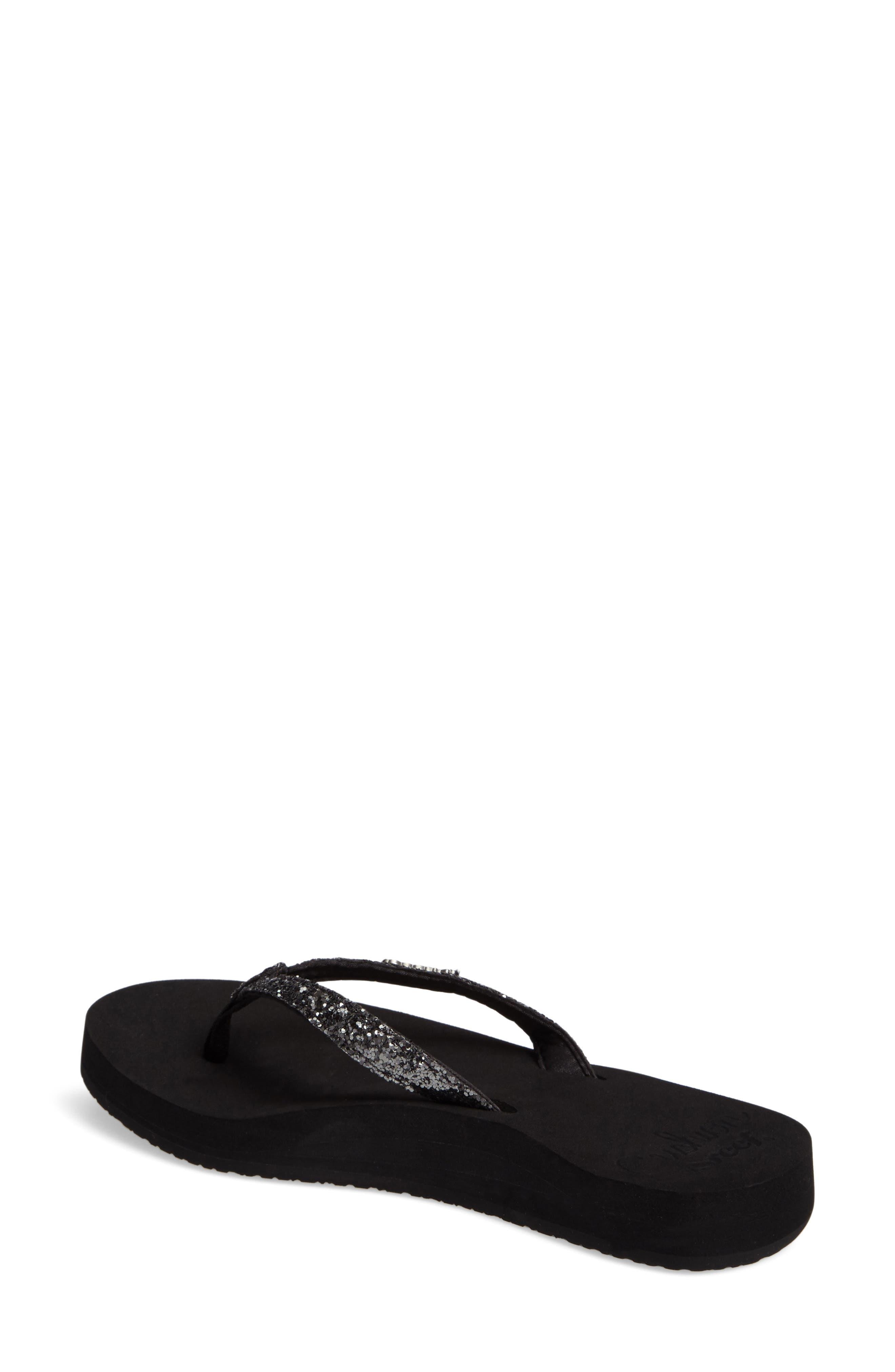 REEF, Star Cushion Flip Flop, Alternate thumbnail 2, color, BLACK/ GUNMETAL