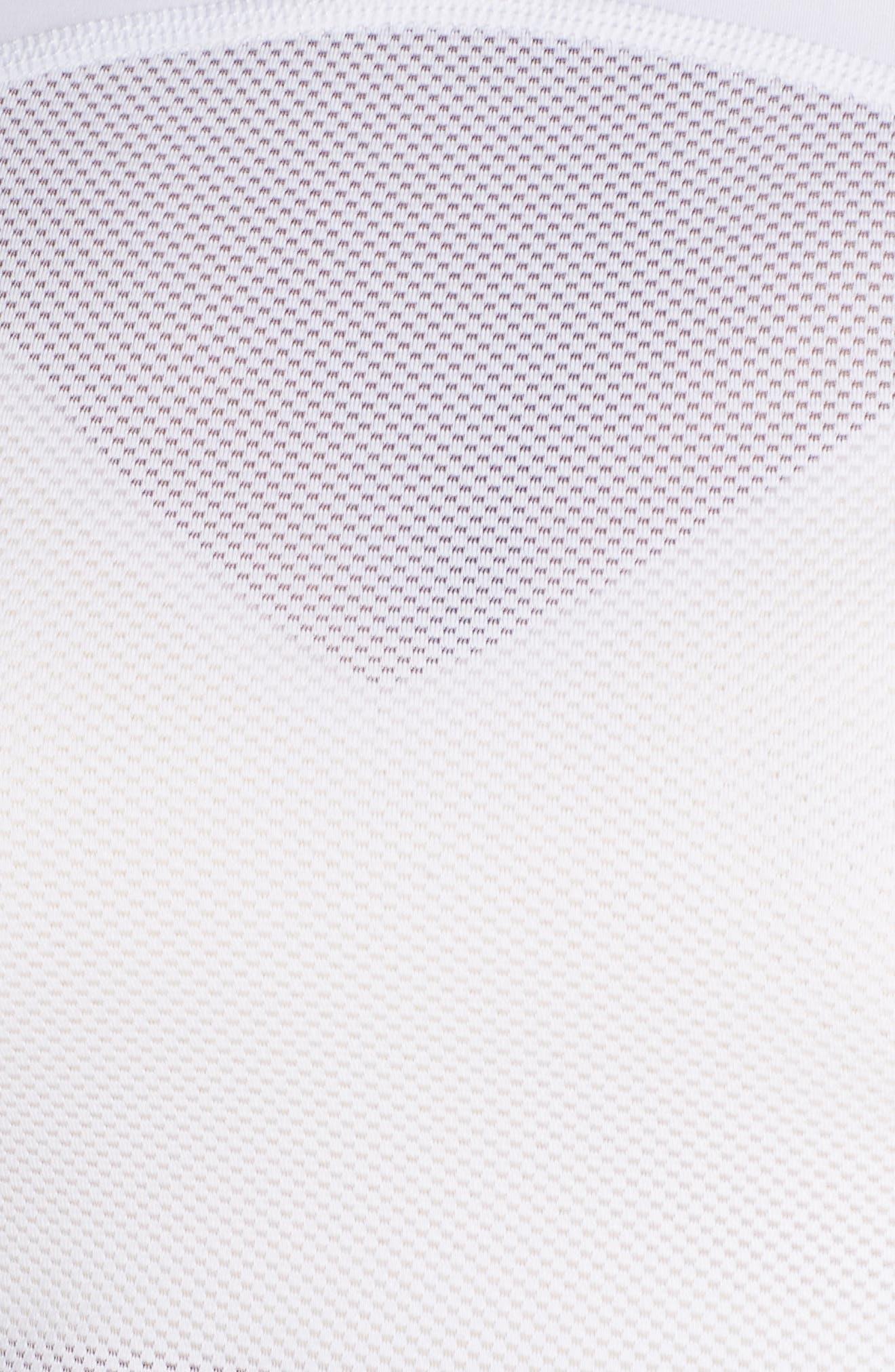 NIKE, Dry Pro Crop Top, Alternate thumbnail 6, color, WHITE/ WHITE/ BLACK
