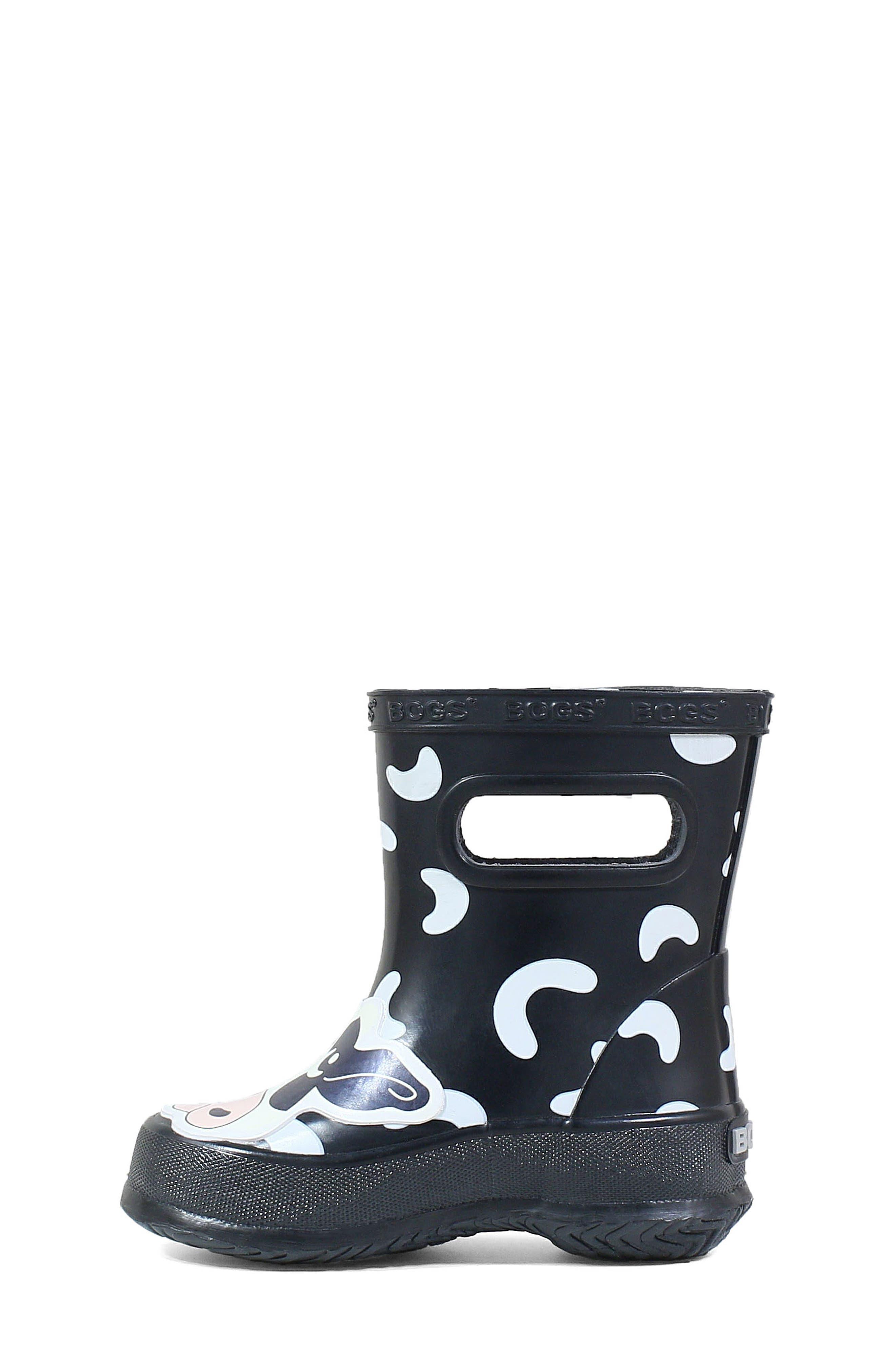 BOGS, Animal Skipper Waterproof Rain Boot, Alternate thumbnail 8, color, 009