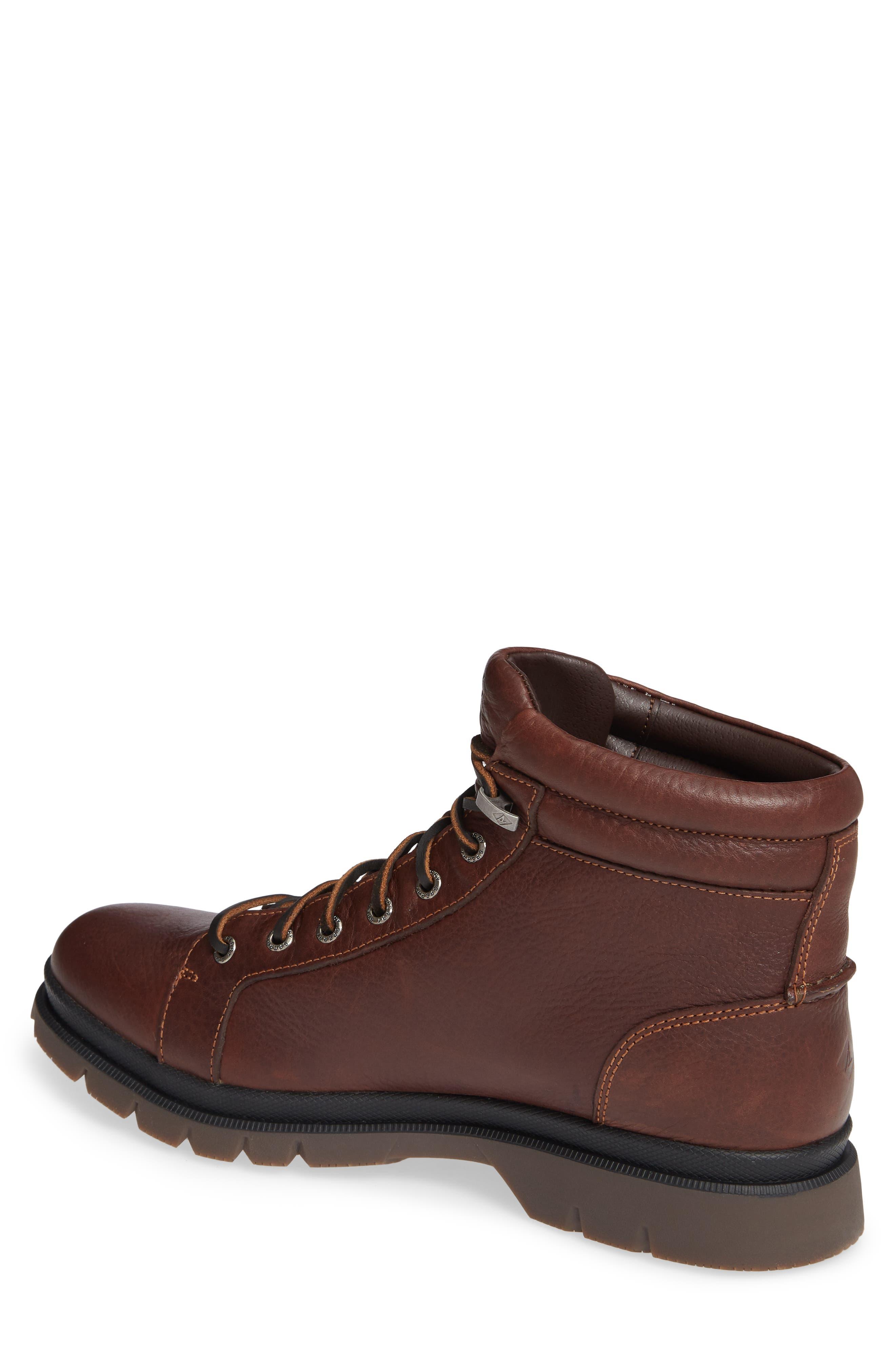 SPERRY, Watertown Waterproof Plain Toe Boot, Alternate thumbnail 2, color, DARK BROWN
