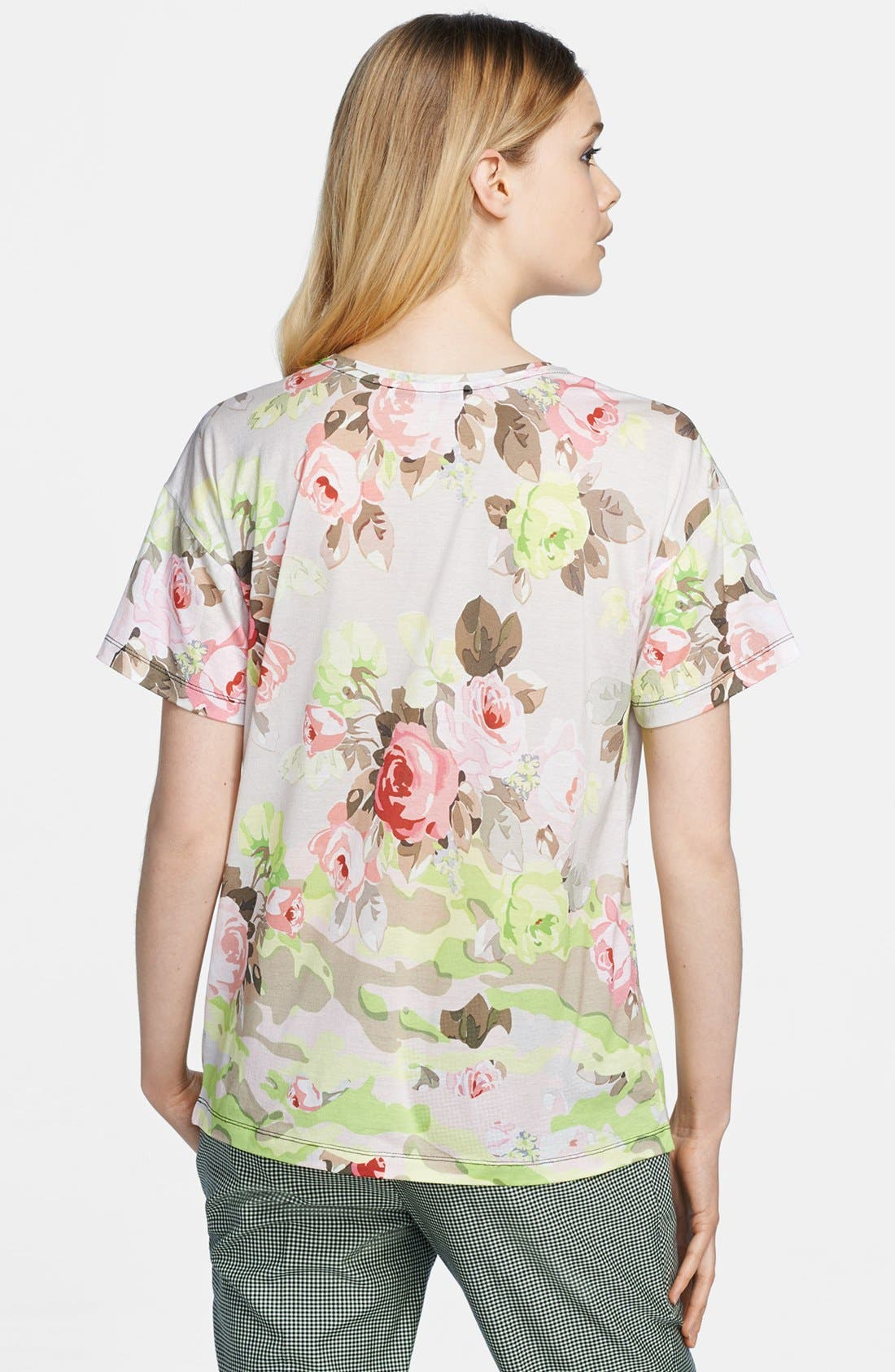 CARVEN, Print Jersey Tee, Alternate thumbnail 3, color, 260