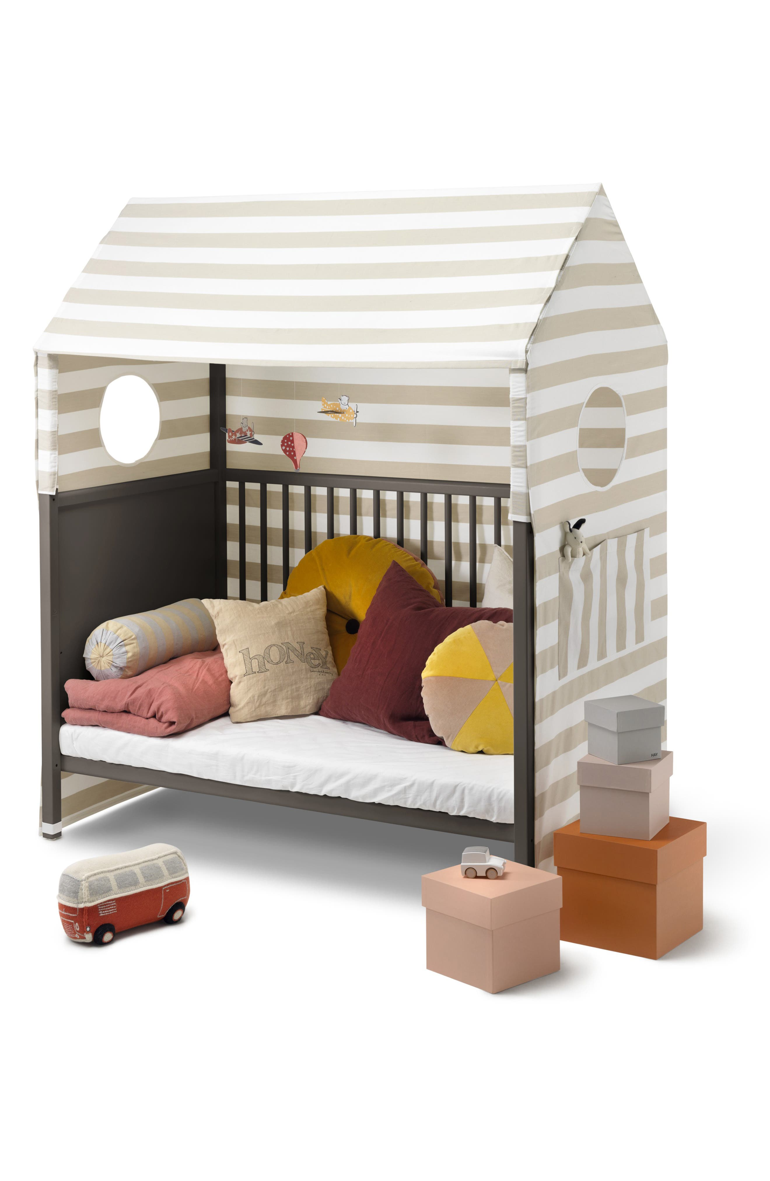 STOKKE, 'Home<sup>™</sup>' Bed, Alternate thumbnail 7, color, HAZY GREY